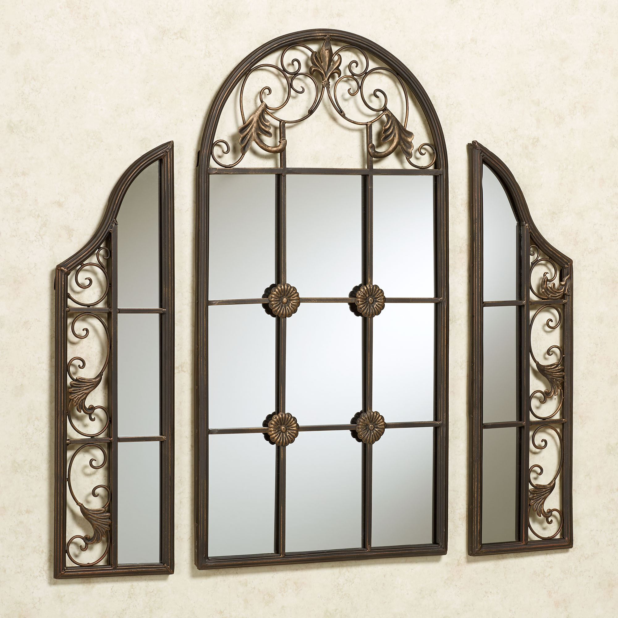 Hera Windowpane Style Wall Mirror Set
