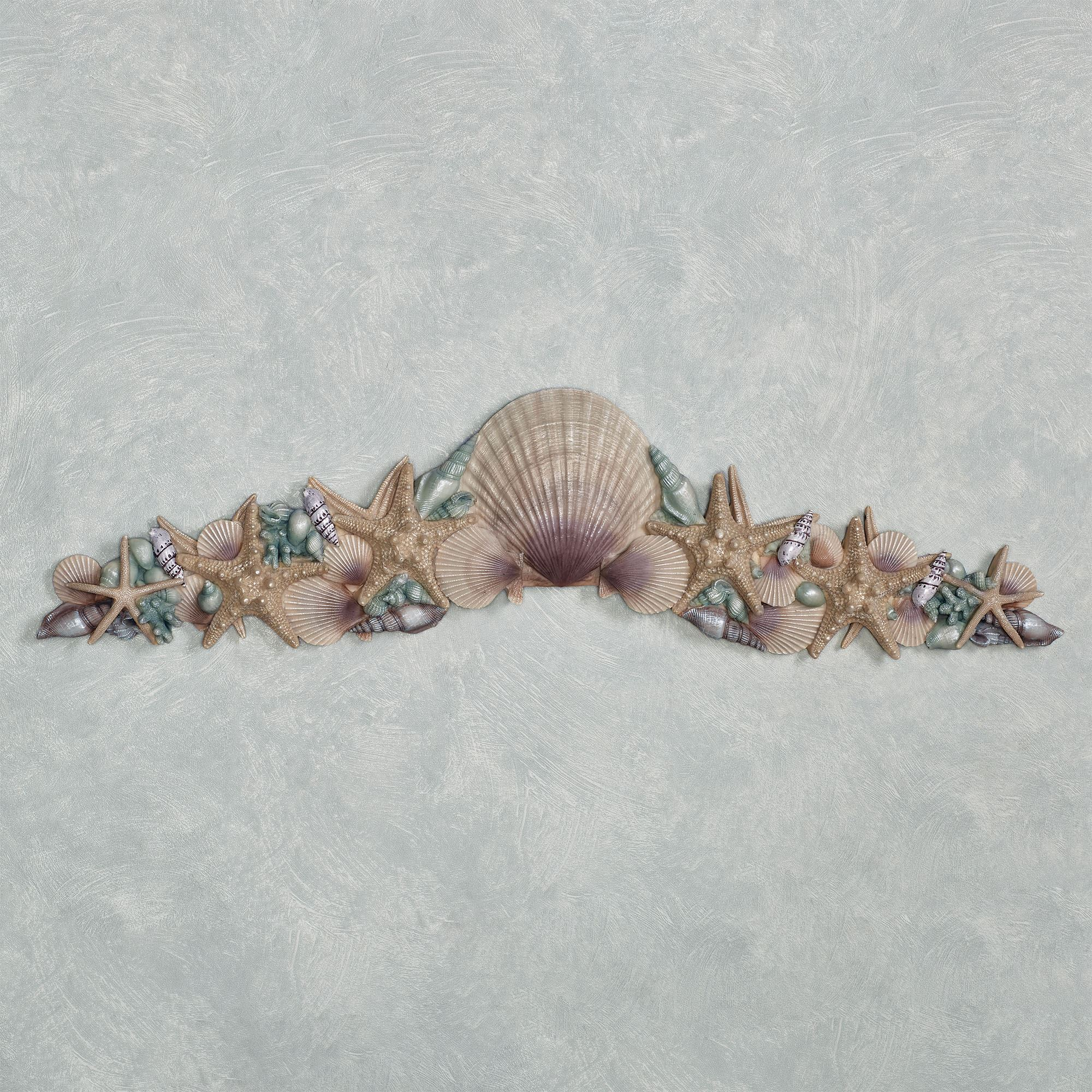 At The Beach Blue Seashell Wall Or Door Topper