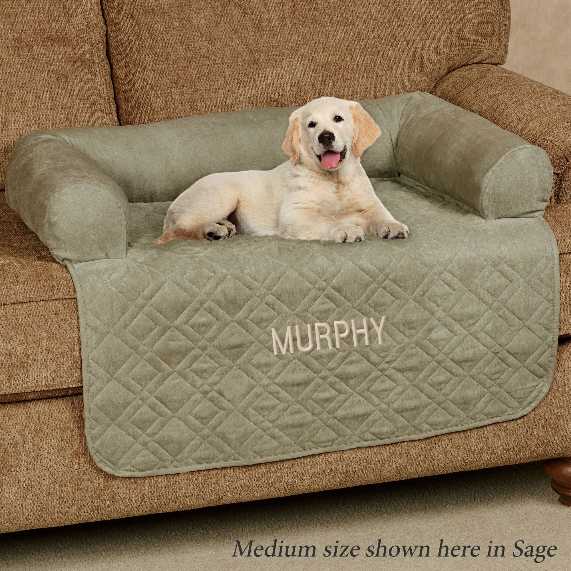 Mason Quilted Faux Suede Pet Cover With Bolster