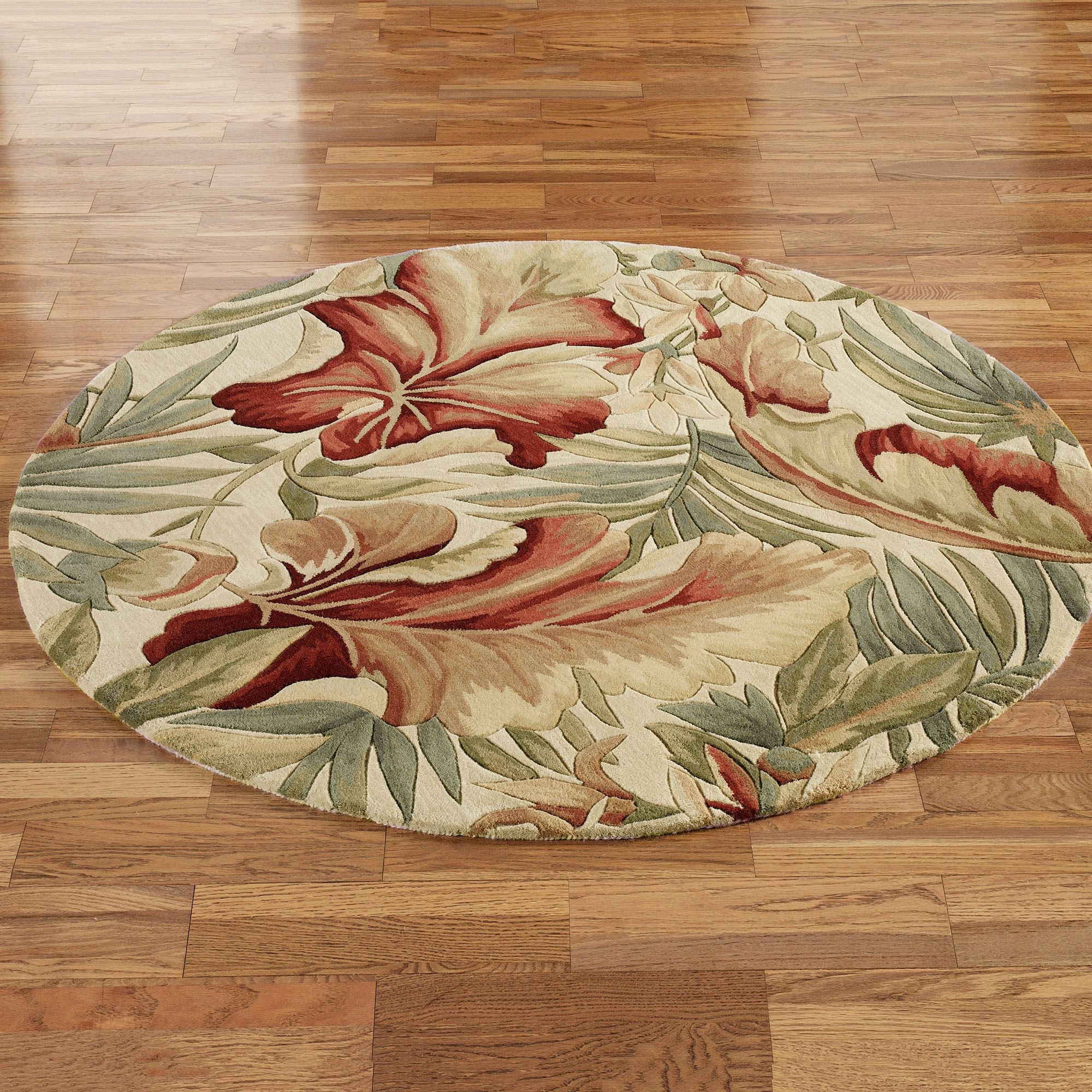 Paradise Foliage Tropical Round Rugs