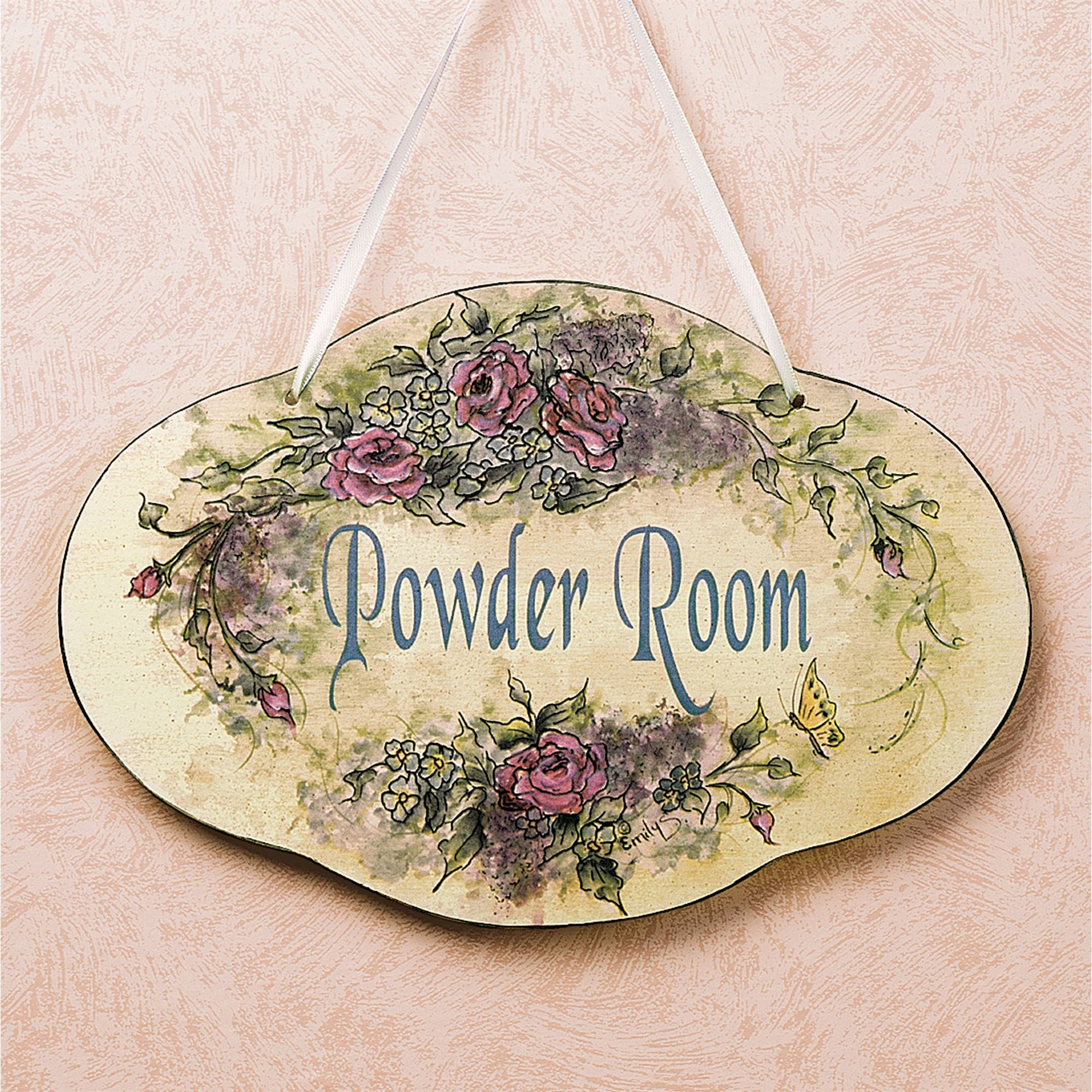 Powder Room Plaque. Click To Expand