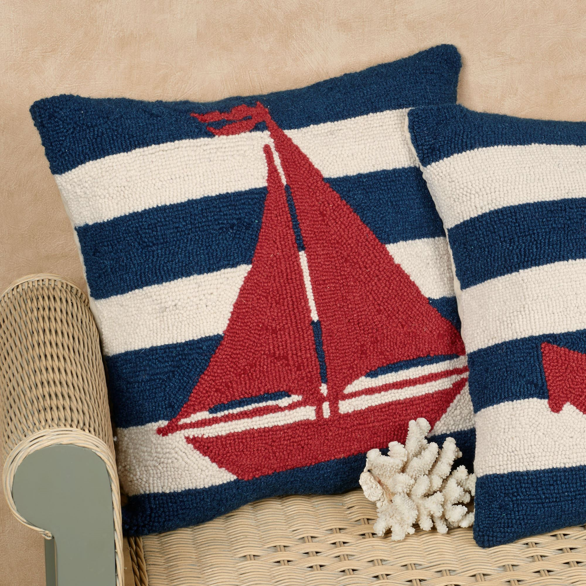 free product anchor pillow garden pillows inch throw shipping laural decorative nautical today overstock home
