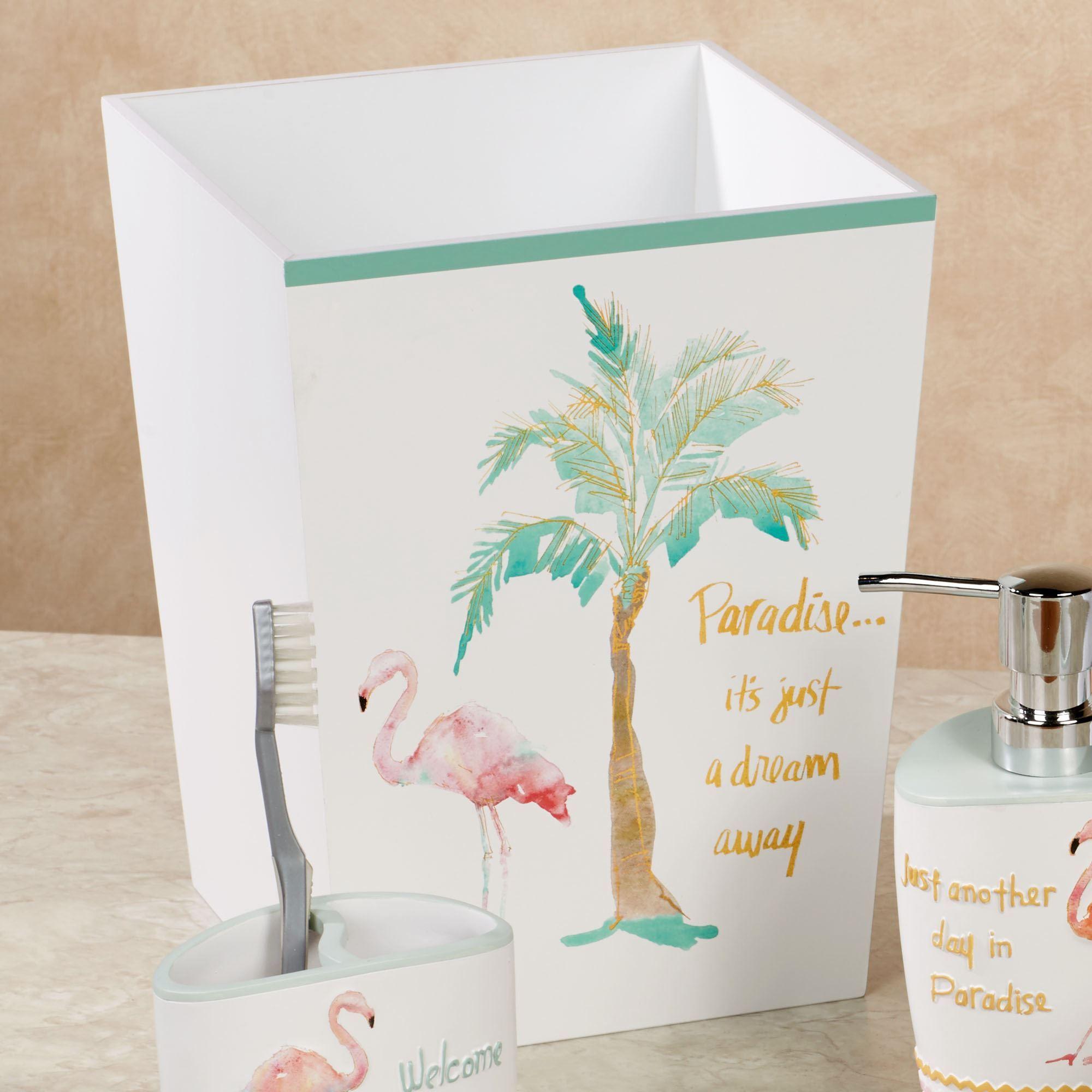 Flamingo Fever Tropical Bath Accessories