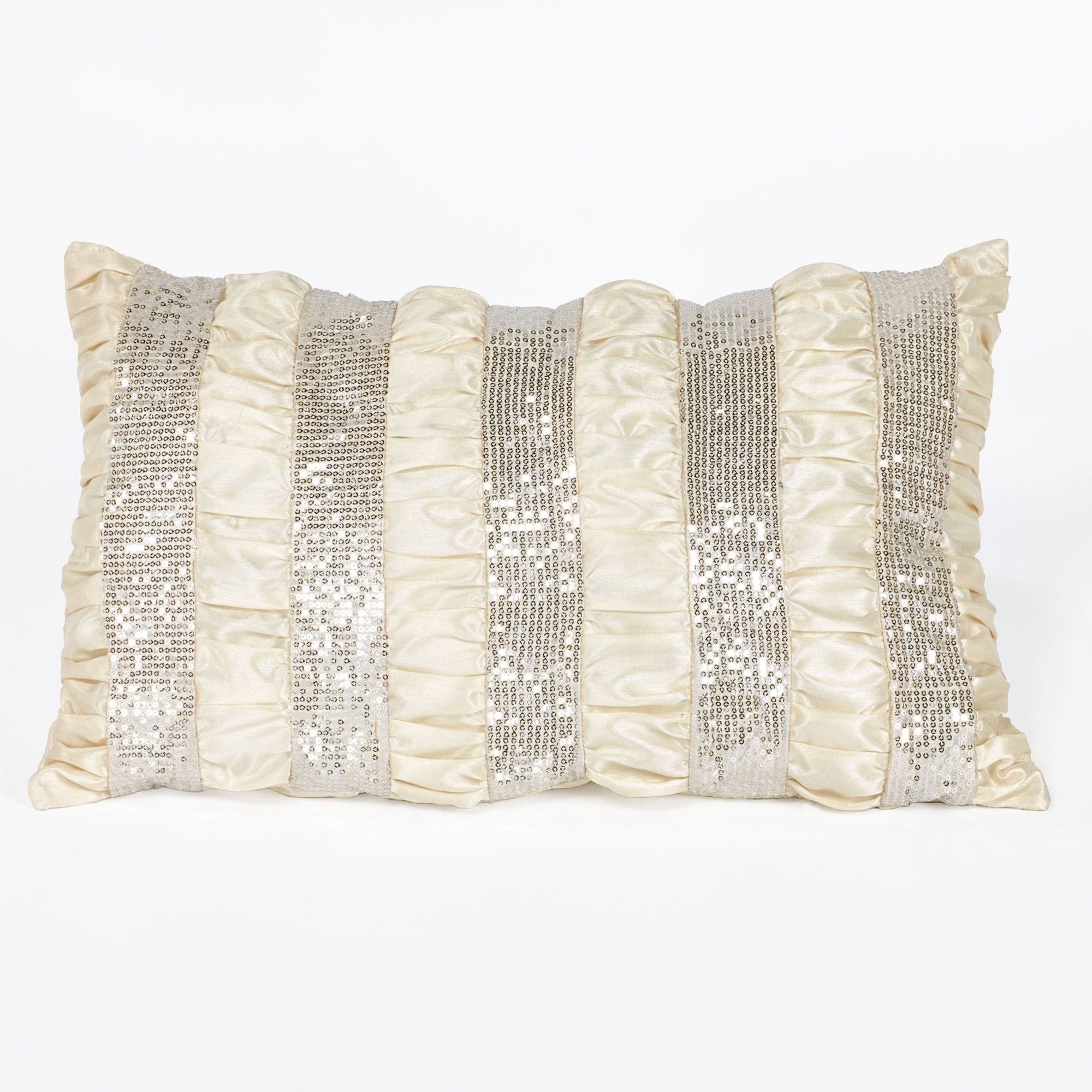 Radiance Sequin Stripe Tailored Pillow Champagne Rectangle da0274cec