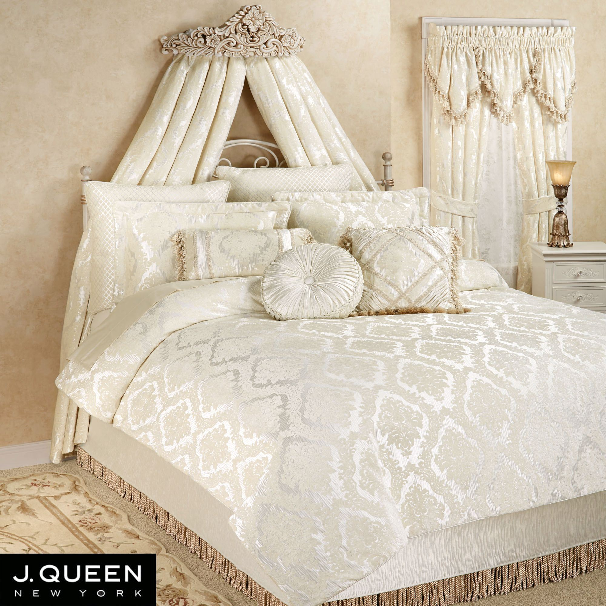 lush ravello full ivory pintuck decor products comforter sets pc set lushdecor queen web com piece