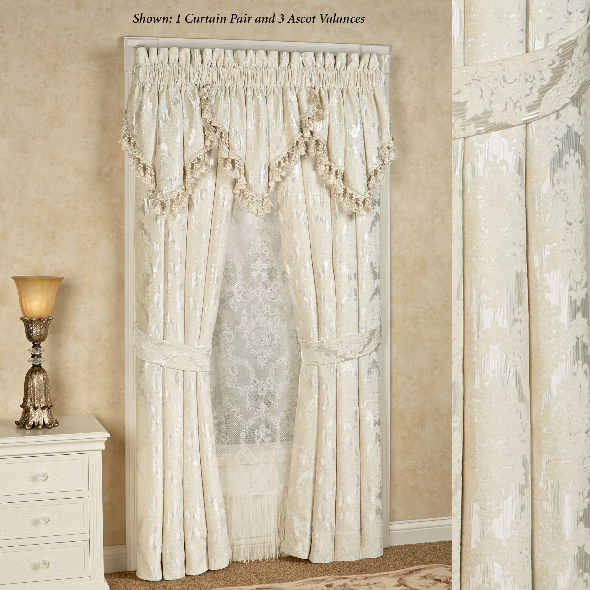 by new j medallion pin roma queen drapes curtains york treatment window