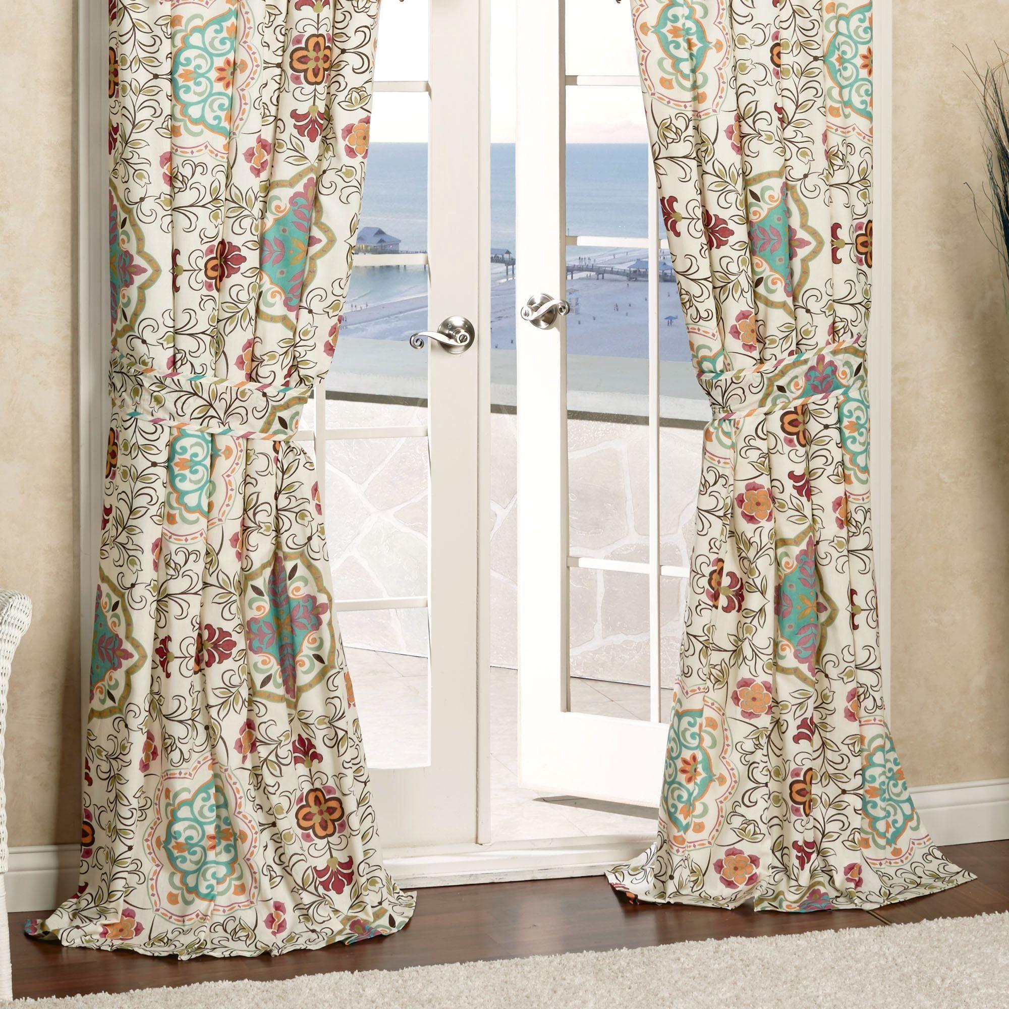 Cote D Azur Tailored Curtain Pair Light Cream 84 X