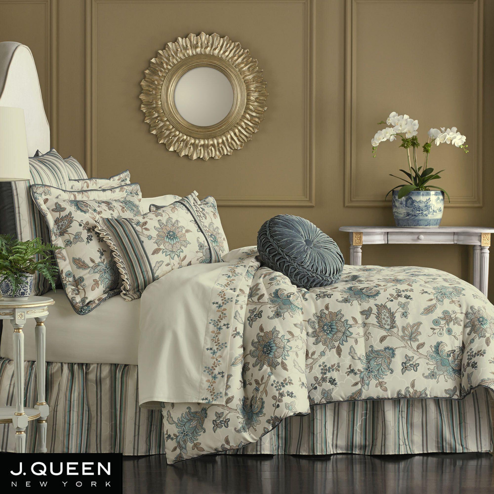 Adrianna Jacobean Comforter Bedding By J Queen New York