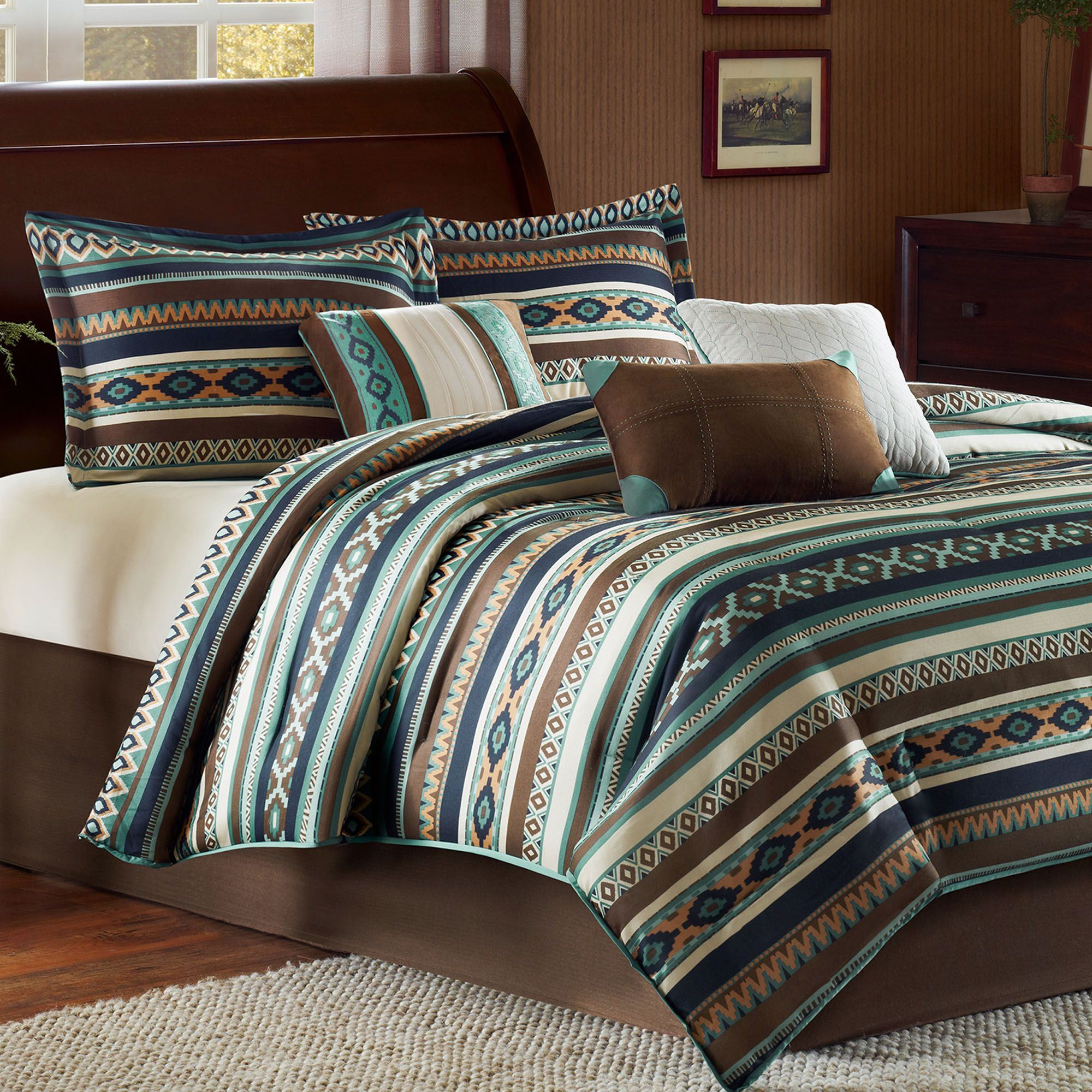 Harley 7 Pc Southwest Comforter Bed Set