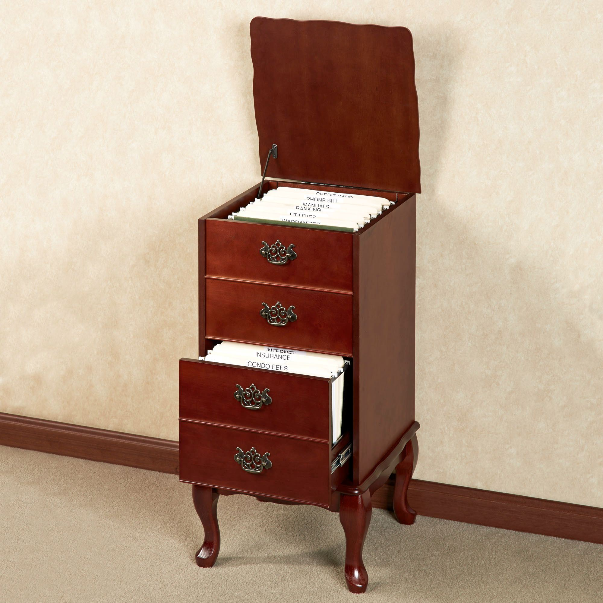 & Queen Anne Filing Cabinet