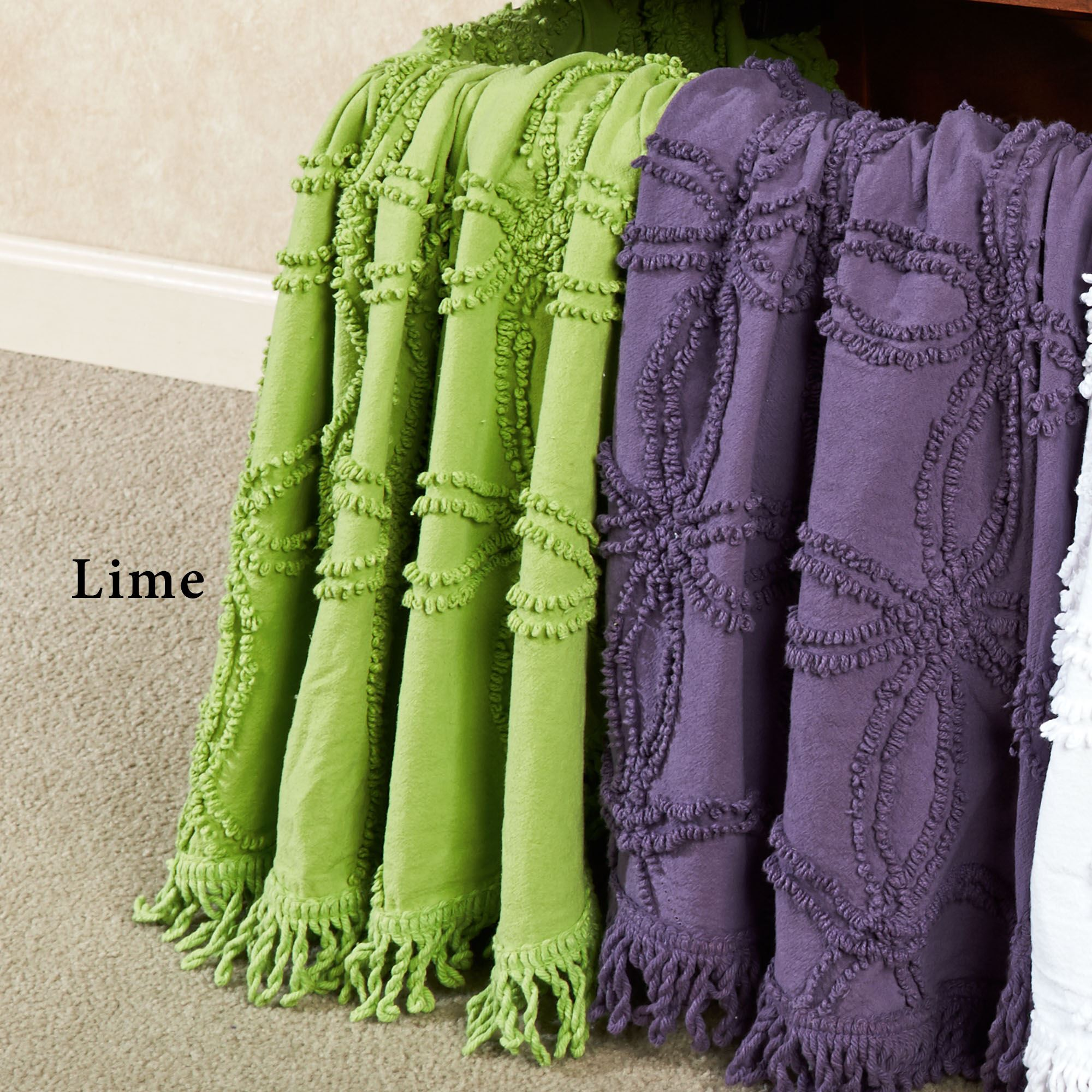 Vintage Cotton Chenille Throw Click To Expand