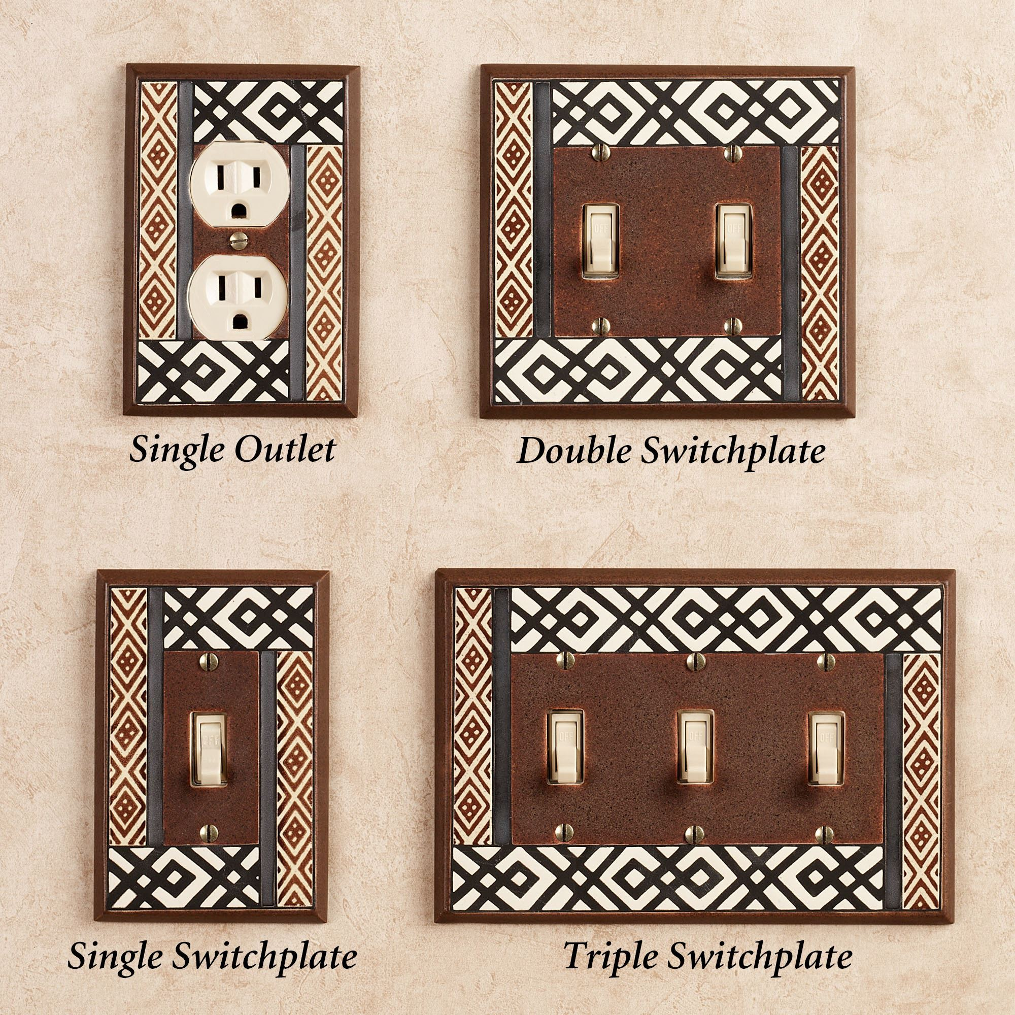 Ceramic Light Switch Covers Mesmerizing Tribal Ceramic Light Switchplates Decorating Design