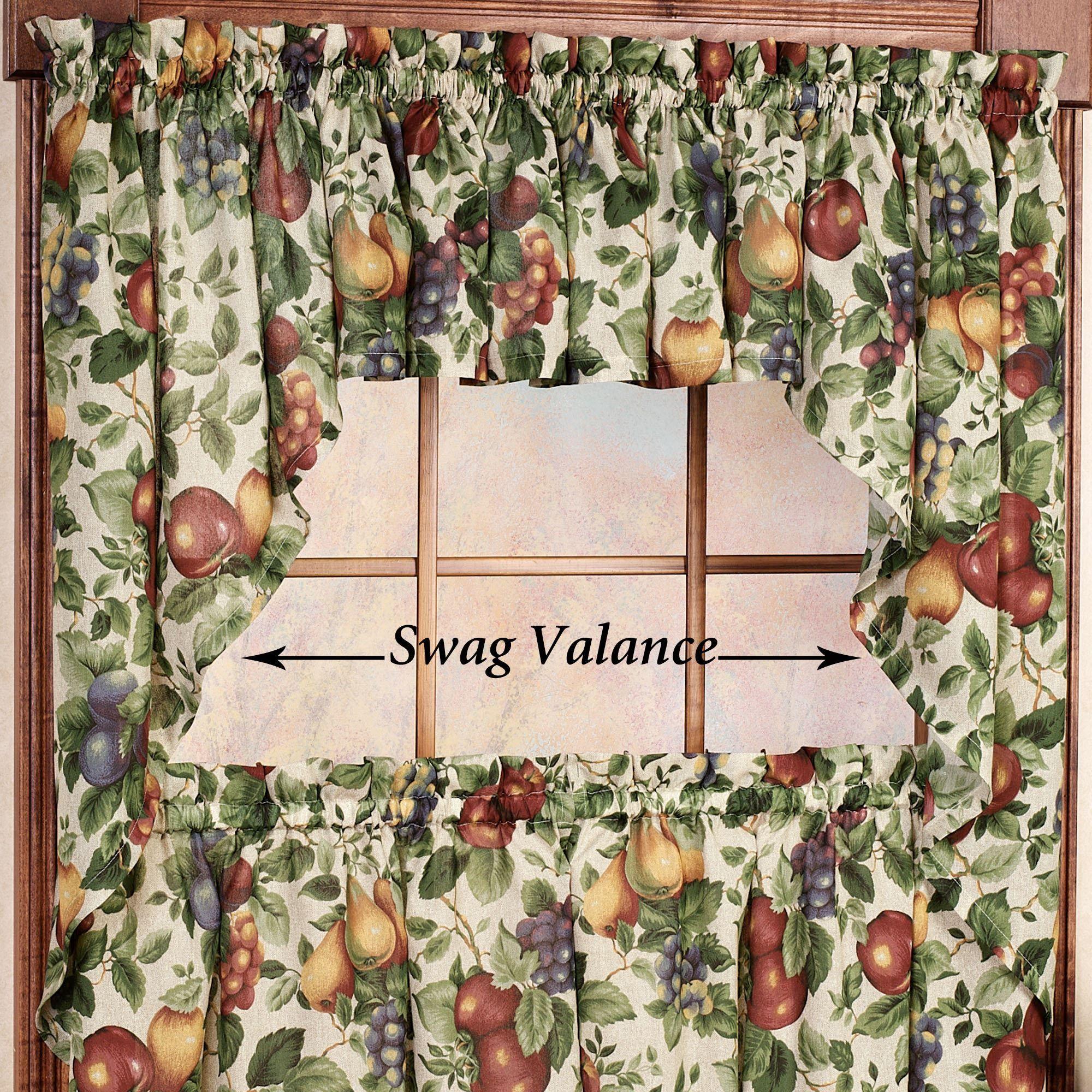 Kitchen Curtain Fruit Swag: Sonoma Fruit Tier Window Treatments