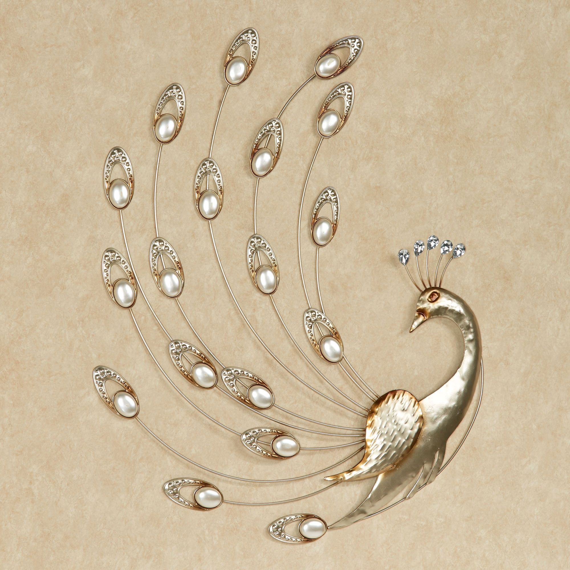 Julietta Pearl Peacock Metal Wall Art