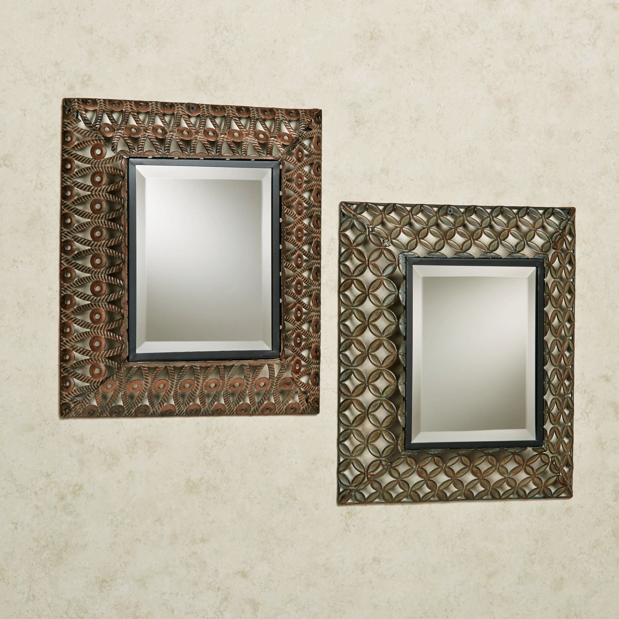Wall decor deals at touch of class raghnall accent wall mirror set multi metallic set of two amipublicfo Image collections