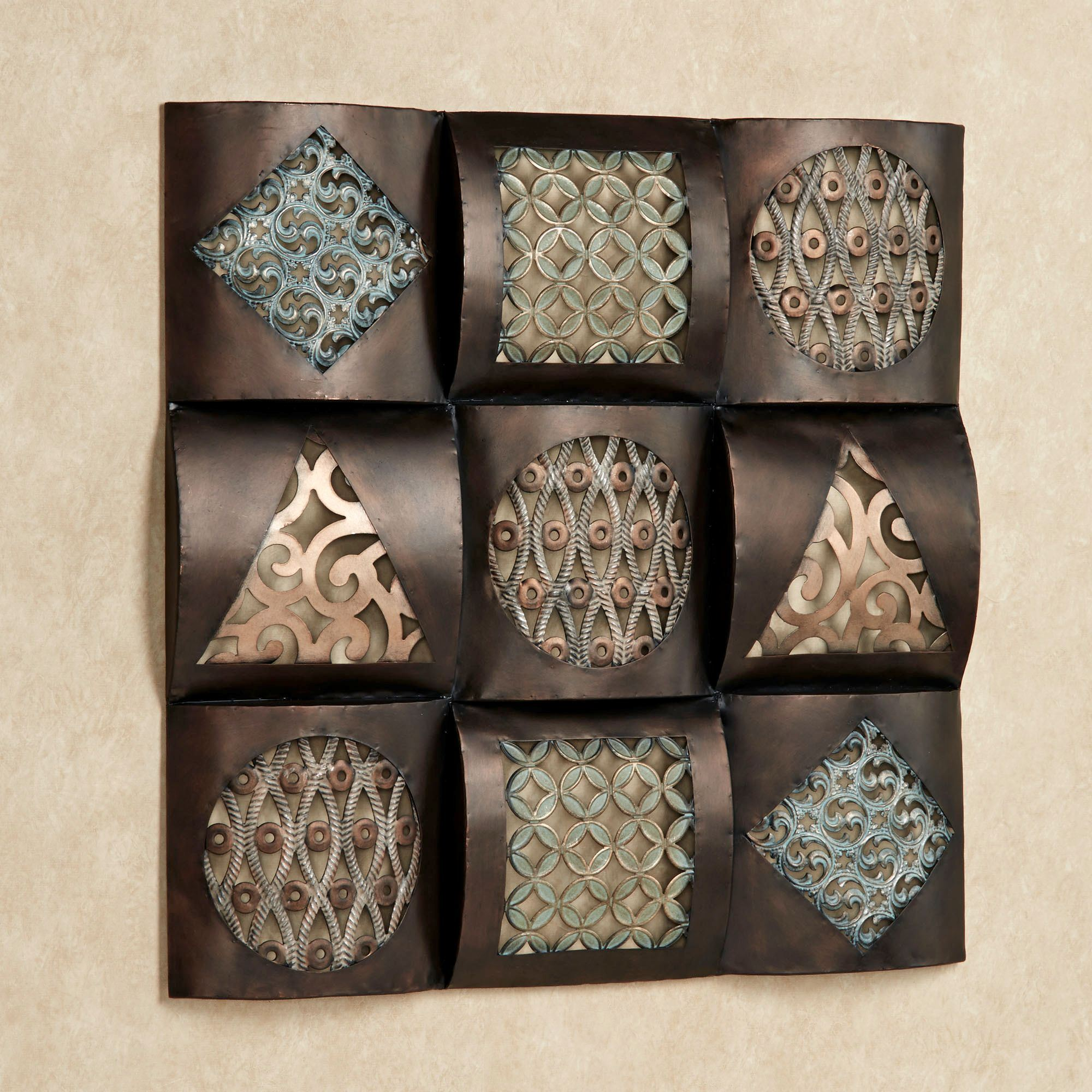 Square Metal Wall Art Gorgeous Raghnall Square Metal Wall Art Design Decoration