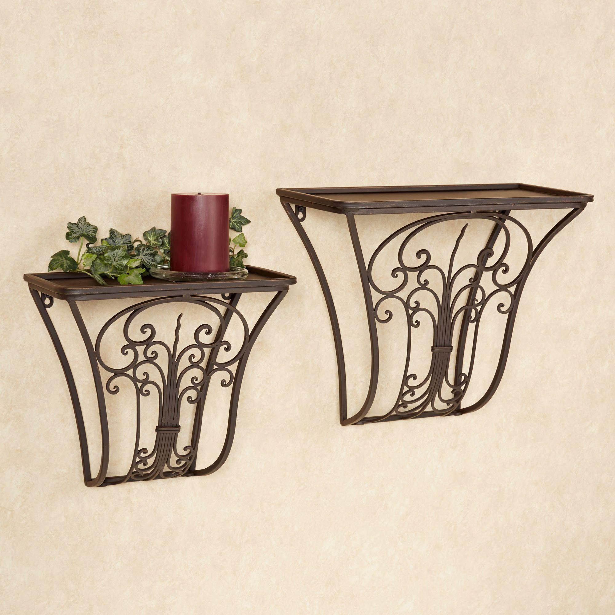 Jada wrought iron wall shelf set click to expand amipublicfo Choice Image