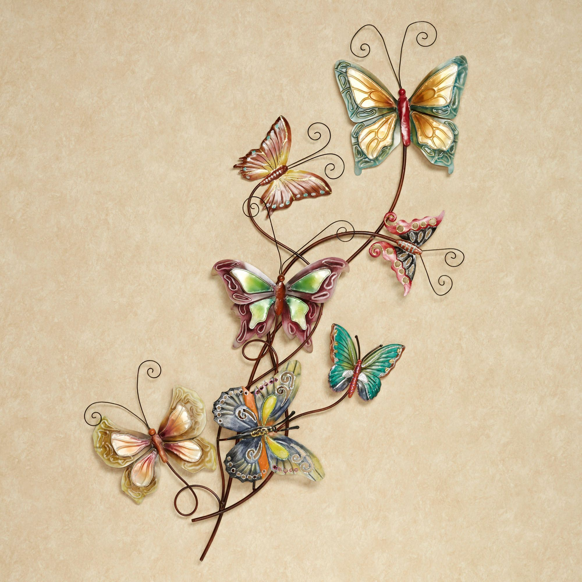 Butterfly Array Metal Wall Art Multi Cool. Touch to zoom  sc 1 st  Touch of Class & Butterfly Array Metal Wall Art