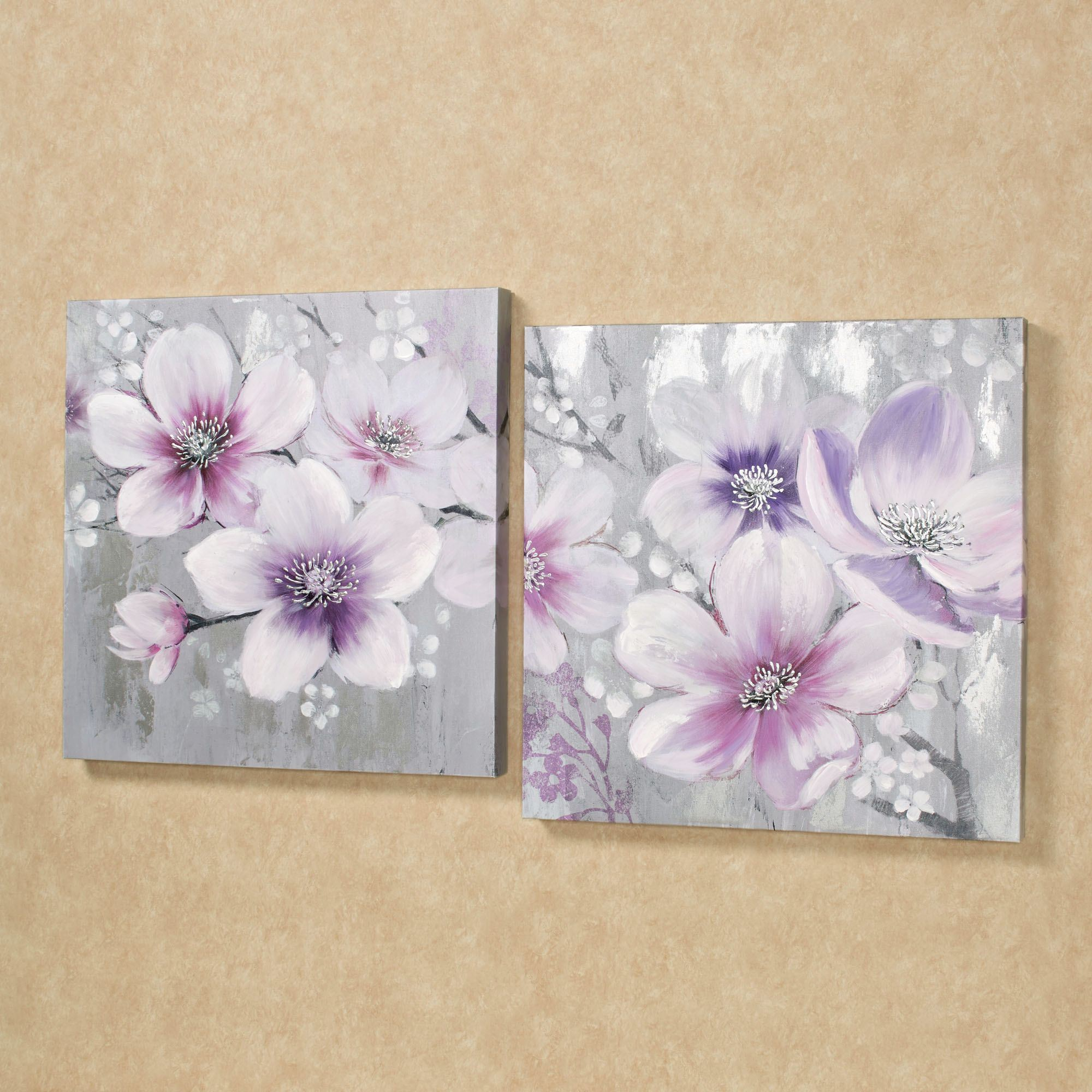 Simplistic beauties floral canvas wall art set for Wall art sets