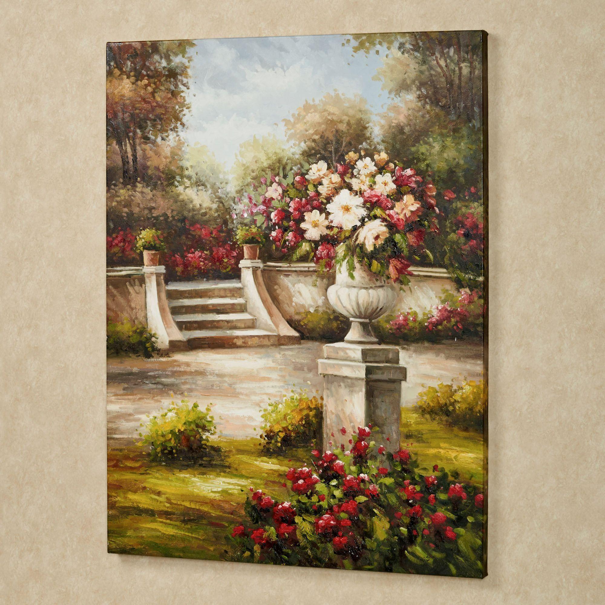 Enchanted Garden: Enchanted Garden Handpainted Canvas Art
