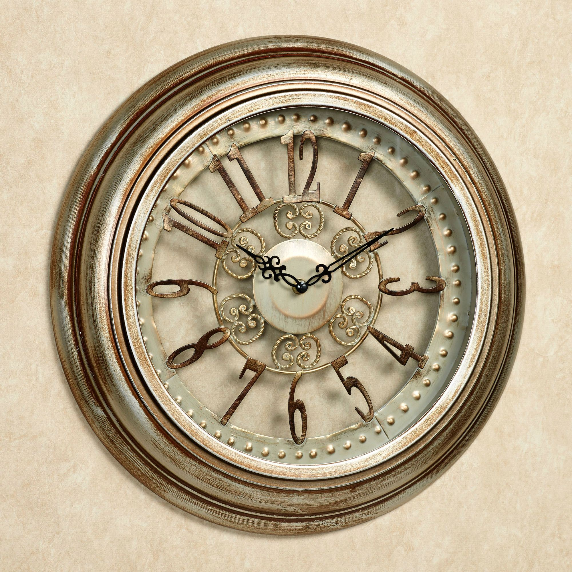 Illene metal wall clock illene wall clock light bronze click to expand amipublicfo Image collections