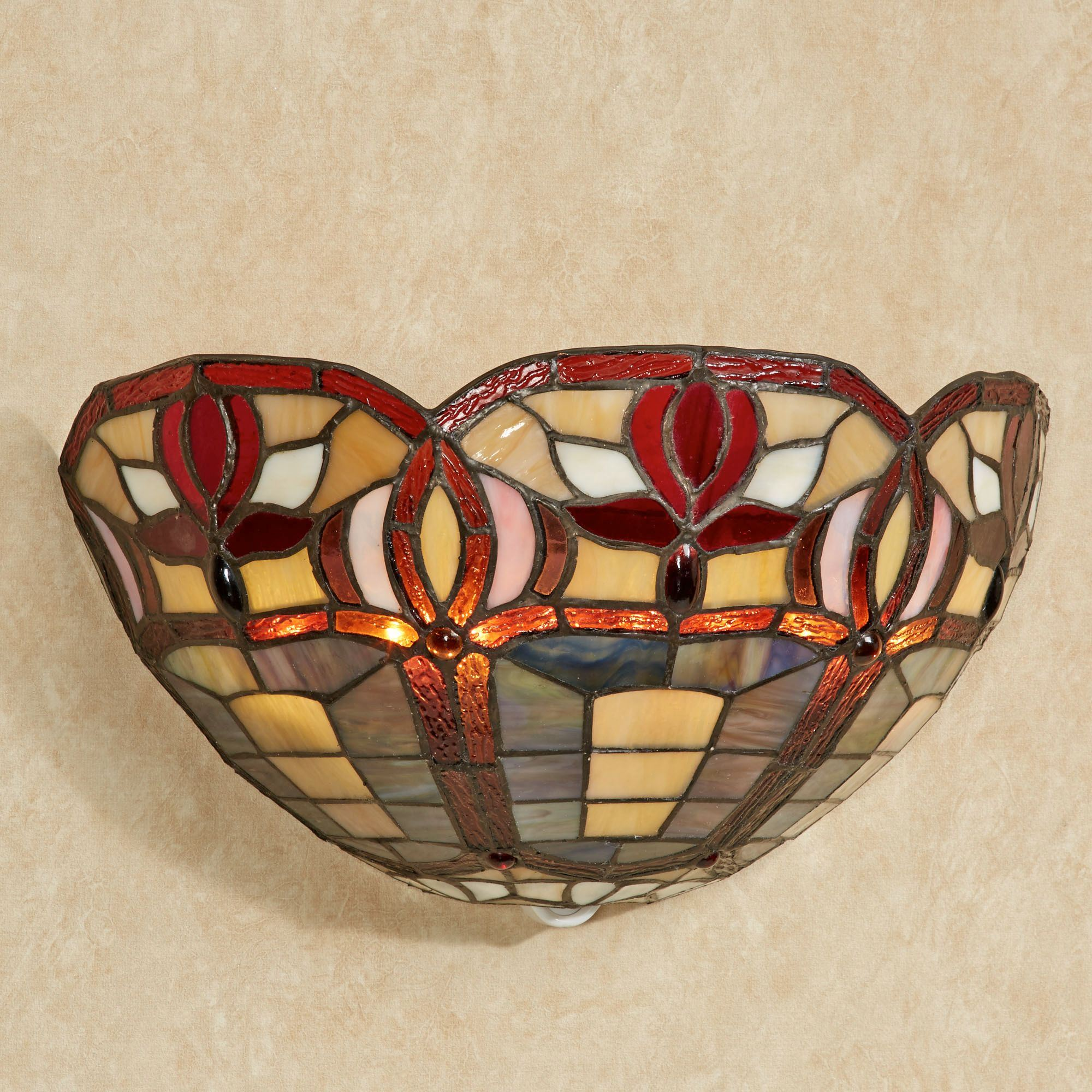 Roses stained glass led wall sconce click to expand amipublicfo Image collections