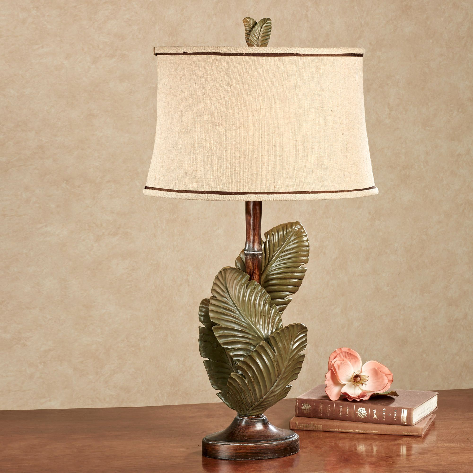 Layered Palms Tropical Table Lamp