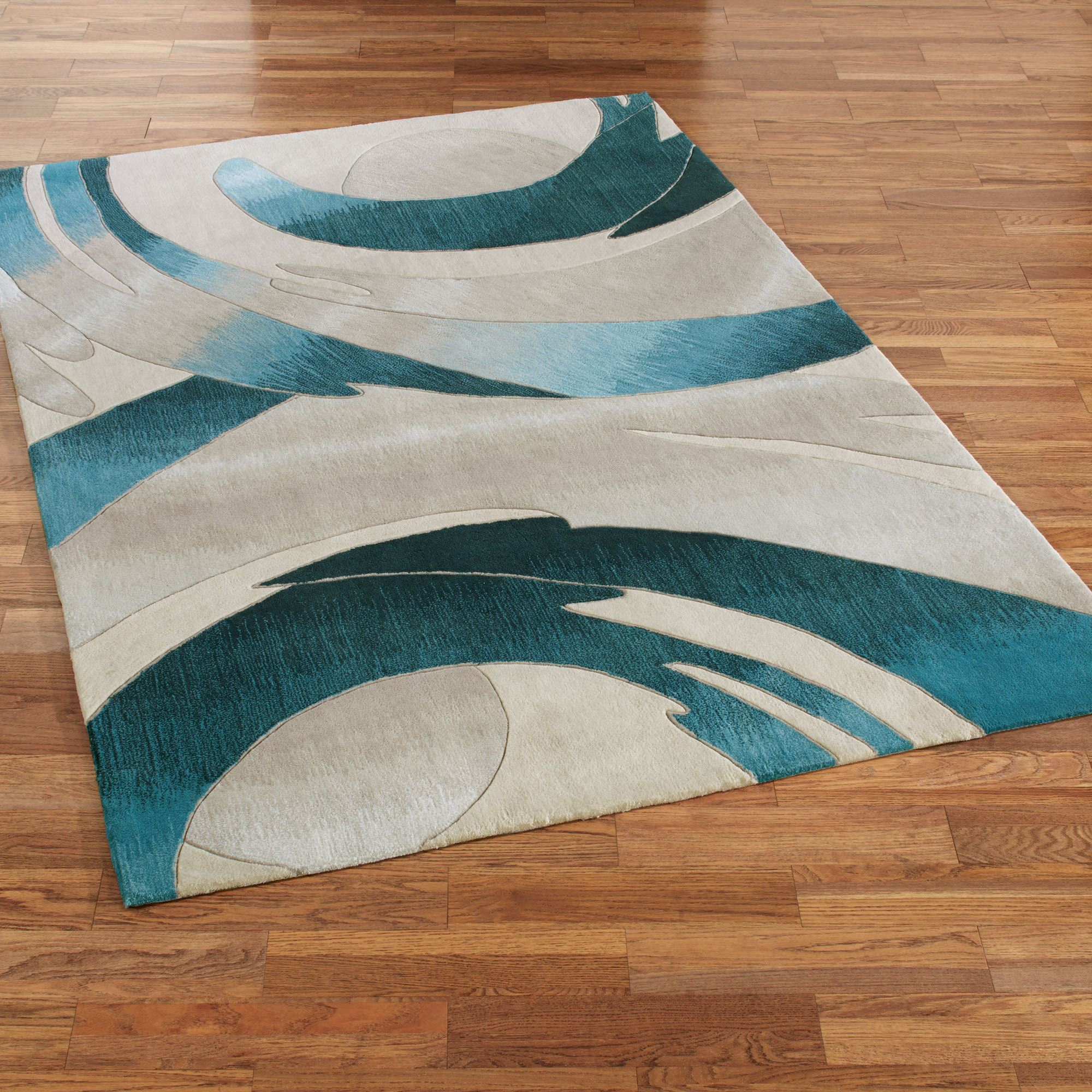 Perfect Storm Rectangle Rug Blue
