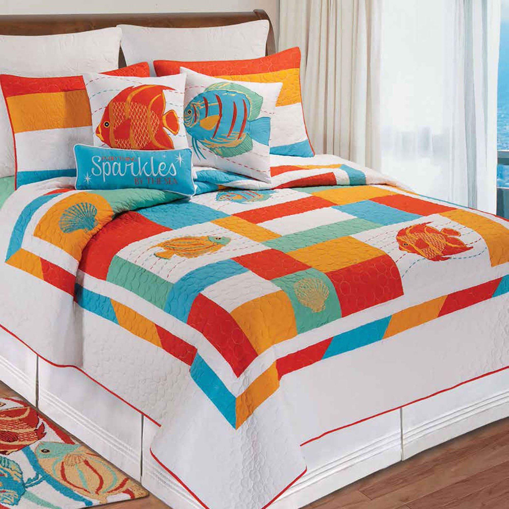 South Seas Colorful Fish Quilt Bedding : fish quilt - Adamdwight.com