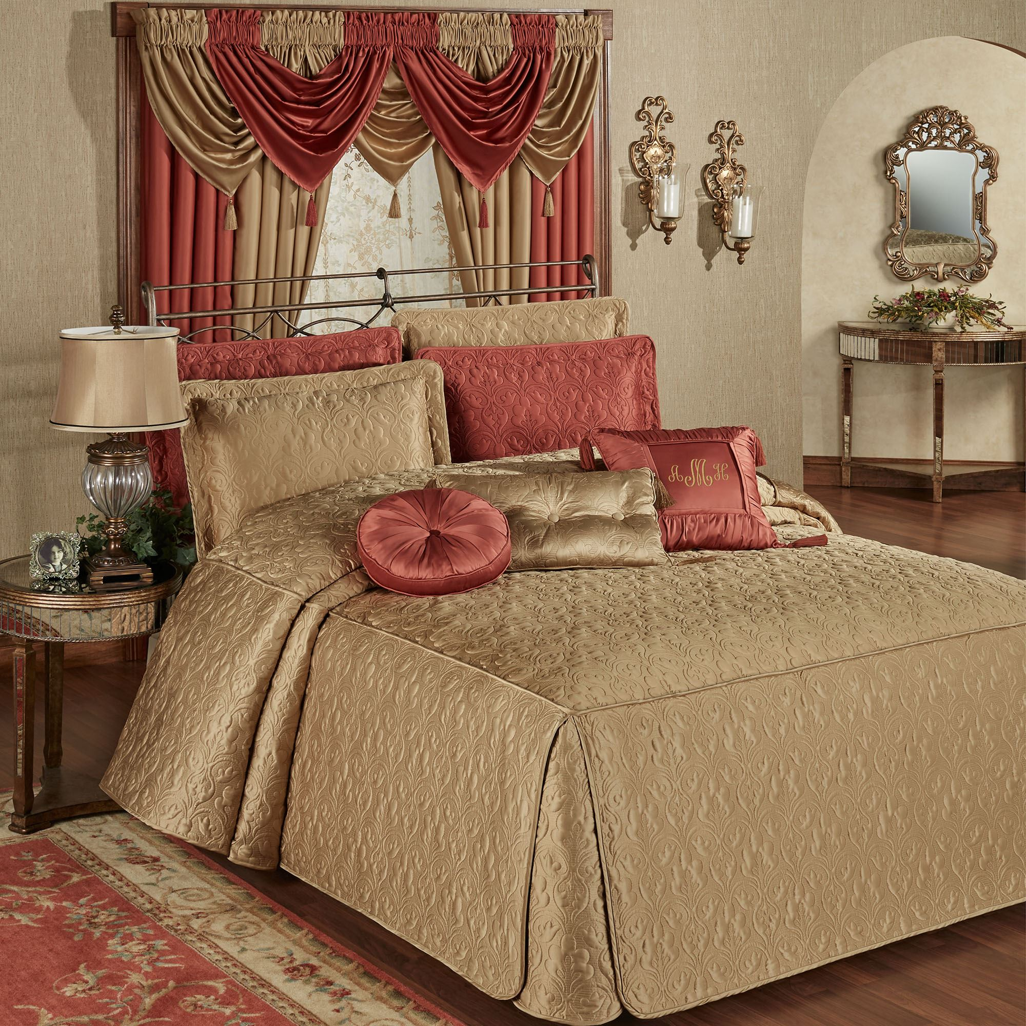 Cambridge Classics Golden Bronze Fitted Quilted Oversized
