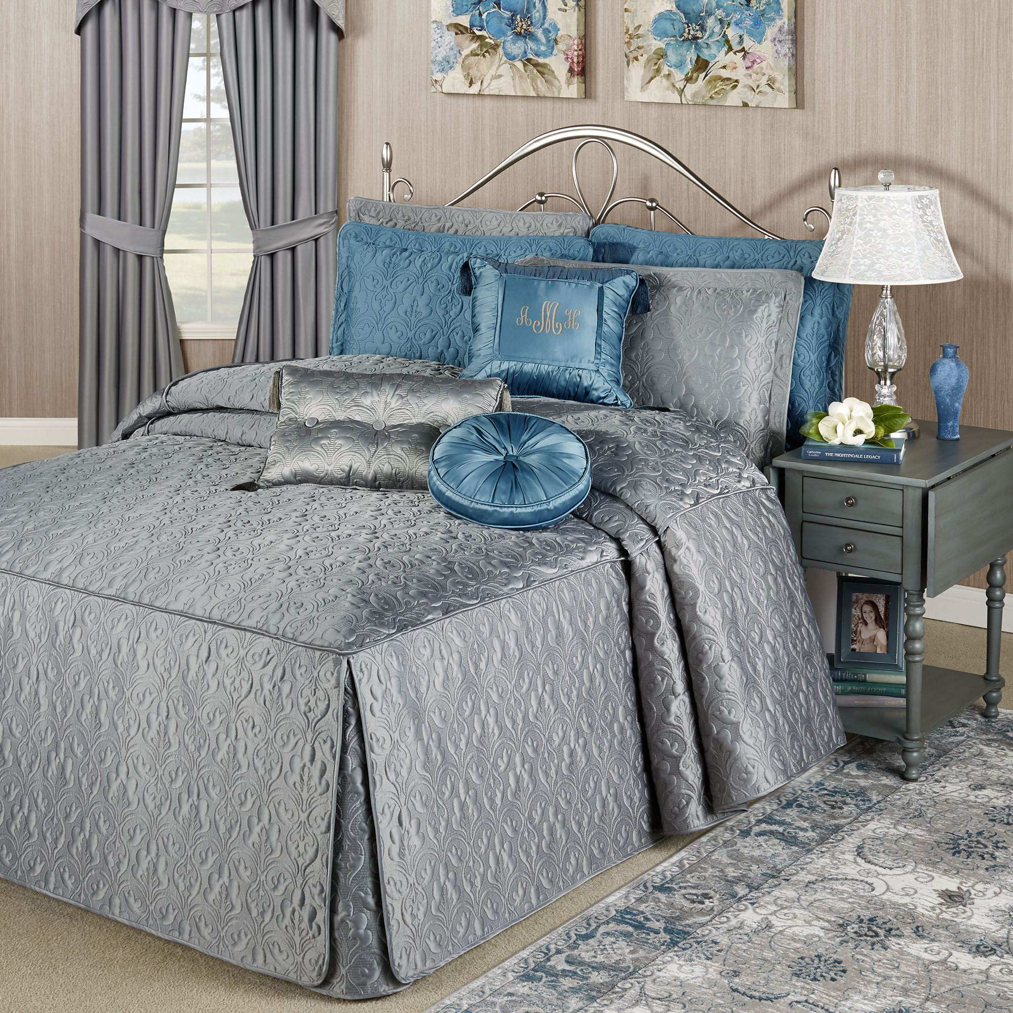 Grey Classic Seersucker Duvet Cover for Teens Adults Pinch Pleat Bedding Set with 1 Pillowcases Classic Puckering and Crimping Quilt Cover with Zipper Closure Single Size 135/×200cm