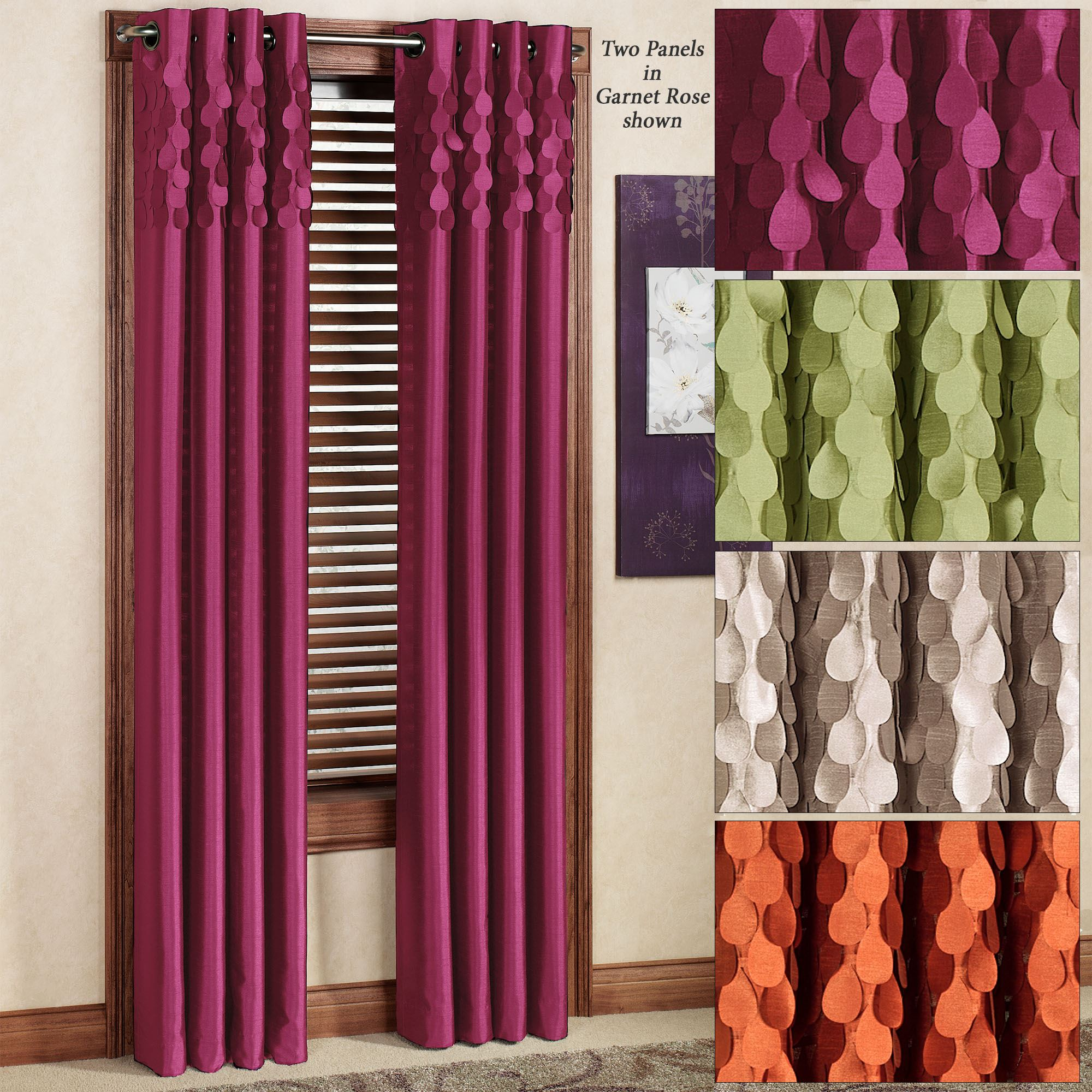 Lulu Semi Sheer Grommet Curtain Panel