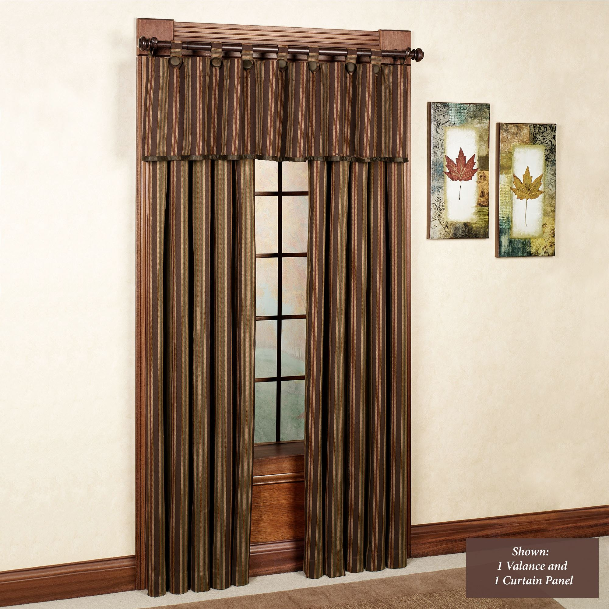 Wilderness Ridge Striped Window Treatments