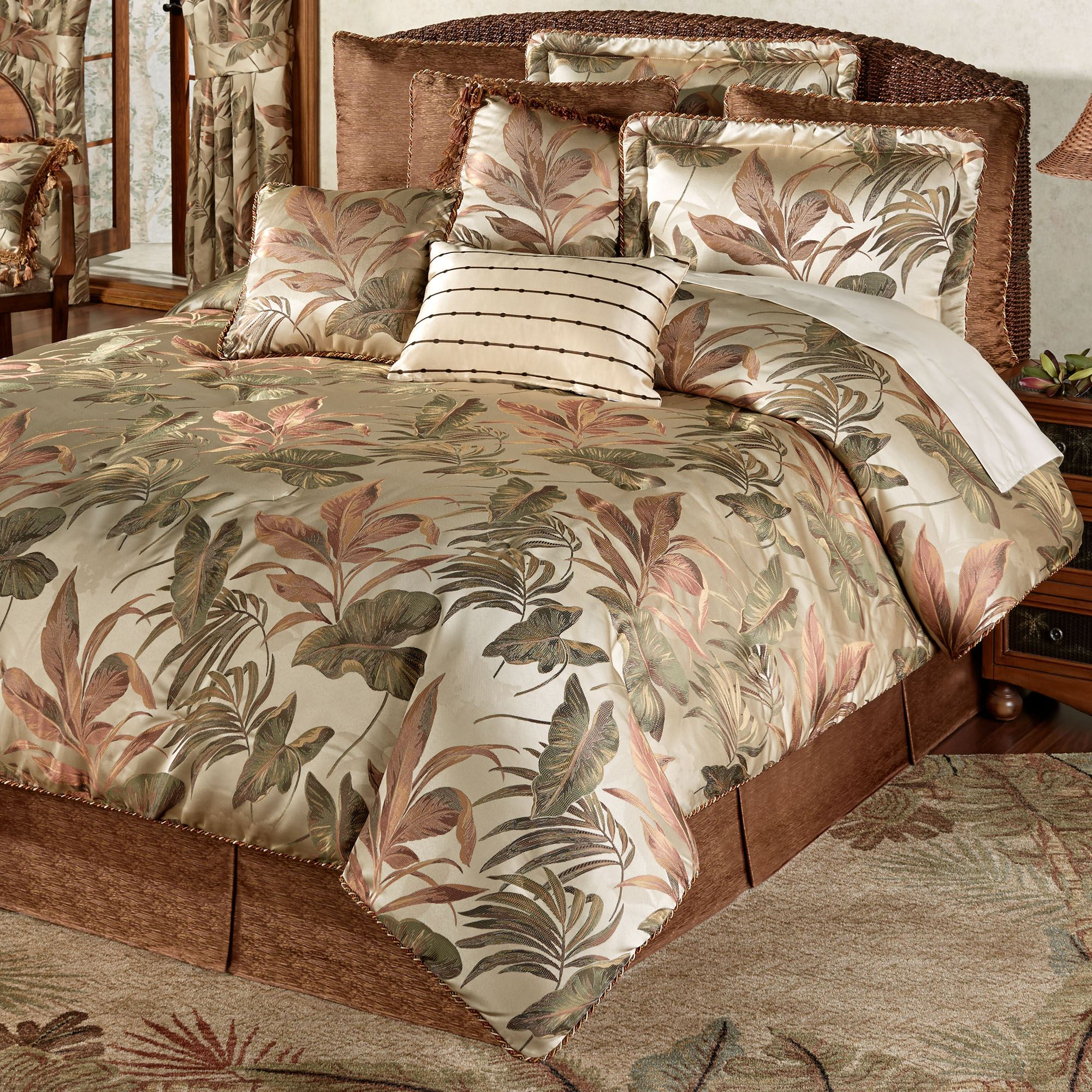 Bali Palm Tropical Comforter Bedding By Croscill