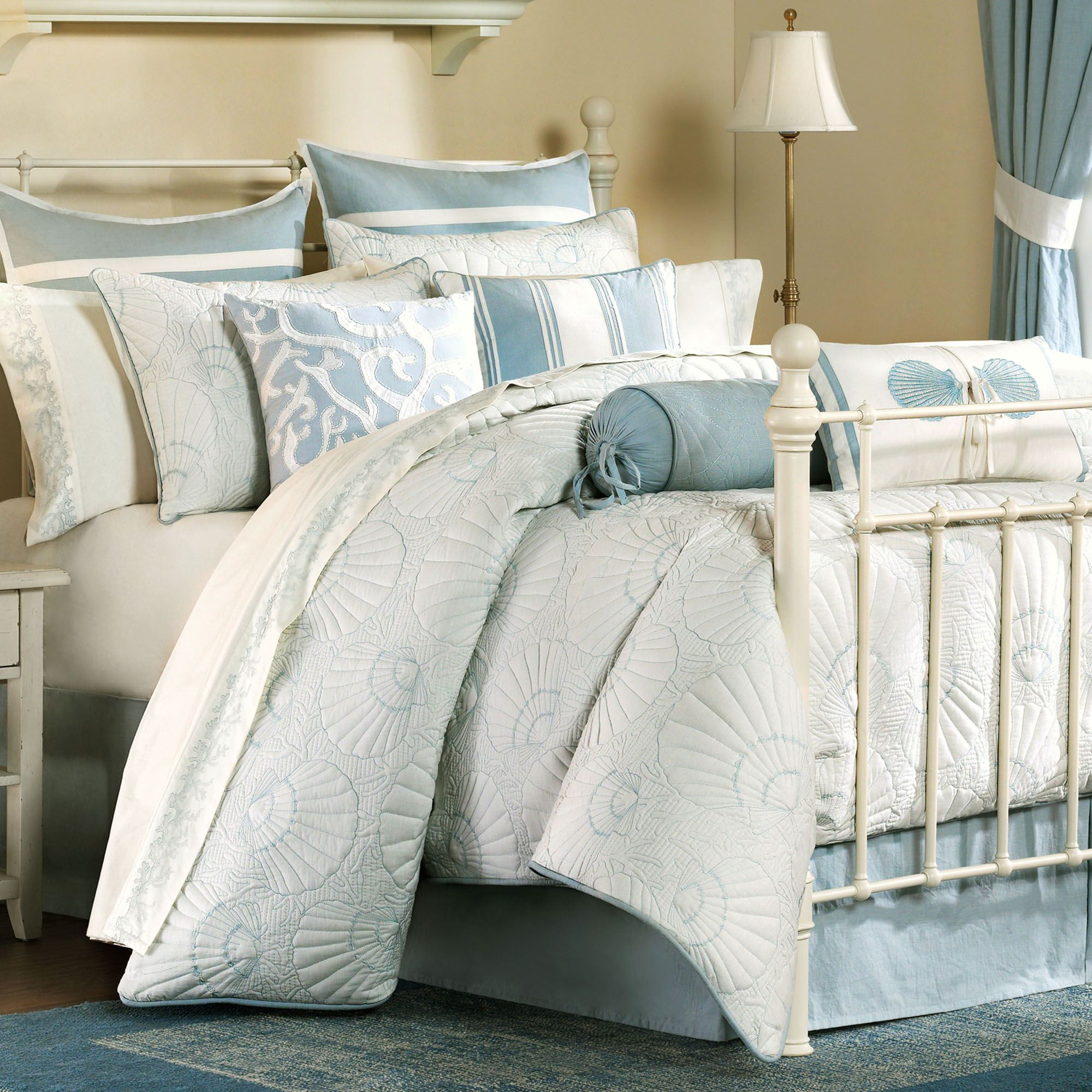 Crystal Beach Comforter Set White