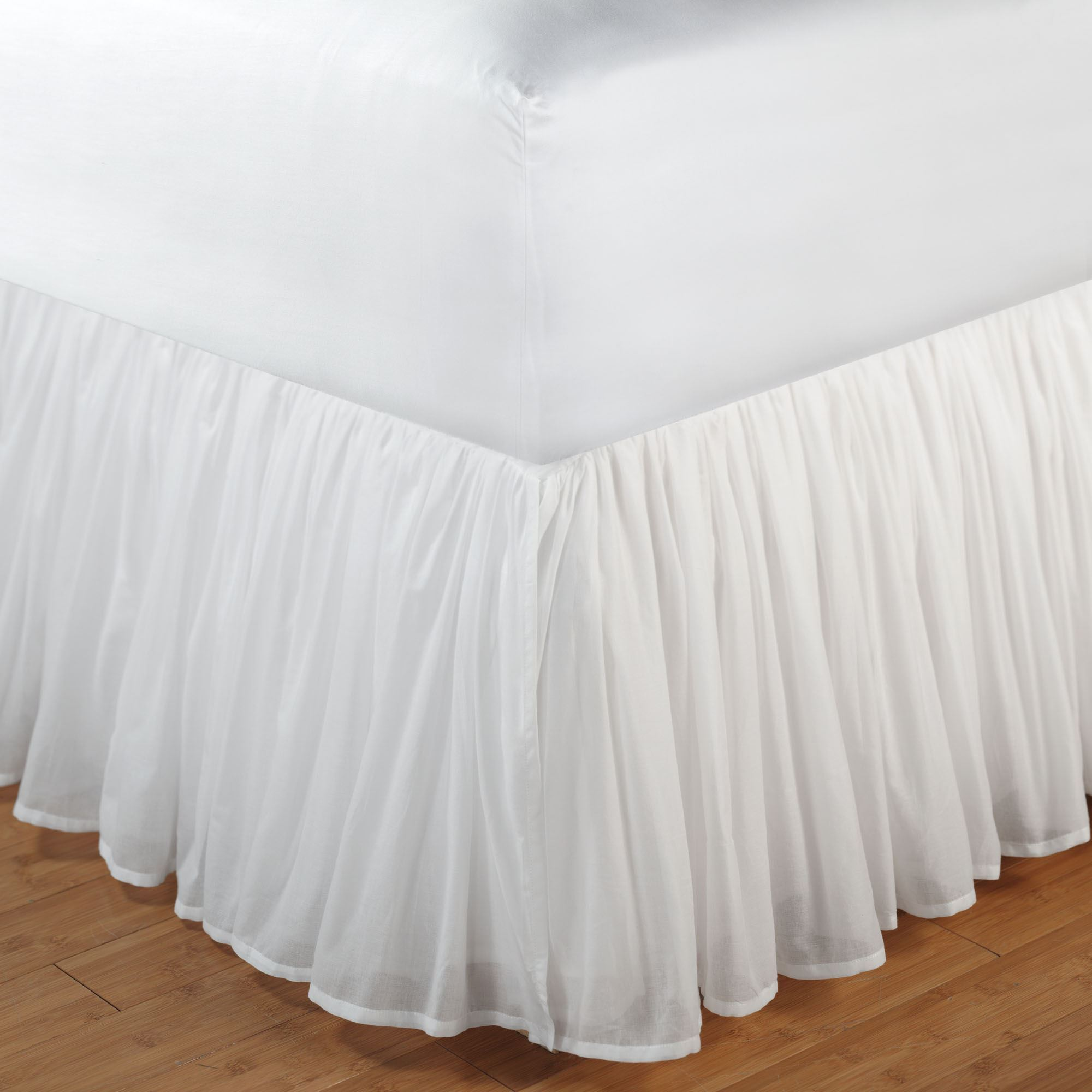 Cotton Voile Gathered Bedskirt Touch To Zoom