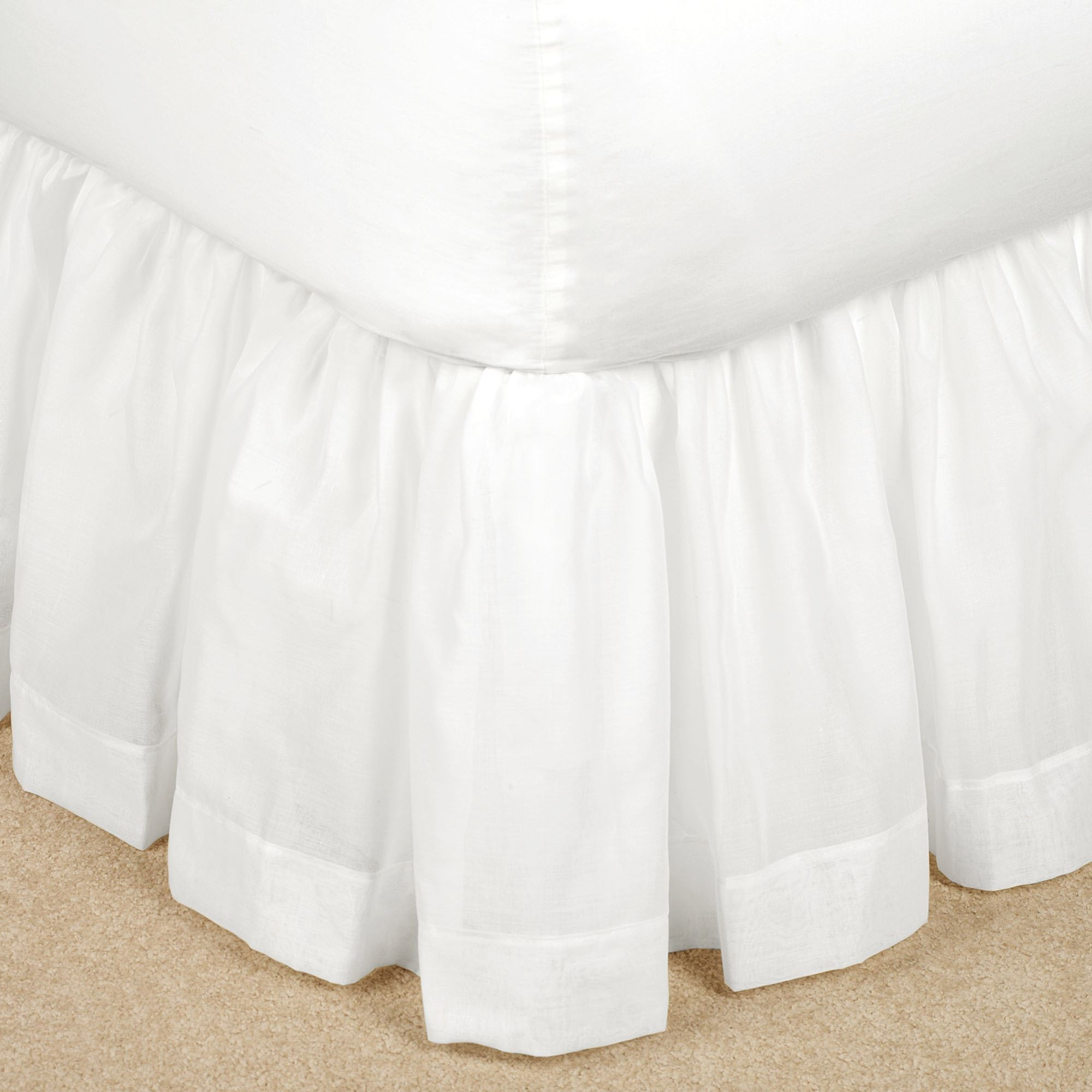 Bethany Semi Sheer Voile Gathered Bedskirt