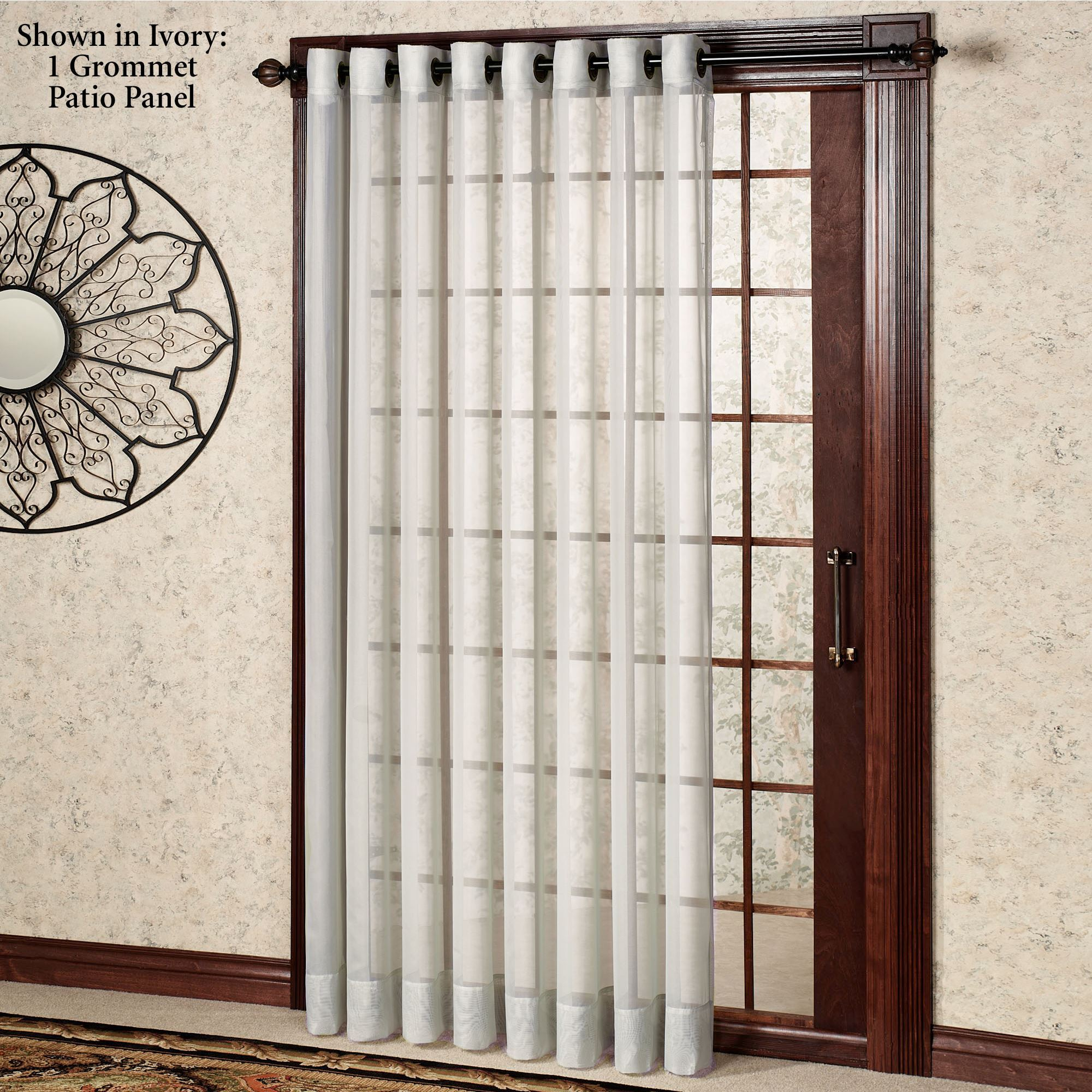 Oyster Bay Sheer Grommet Patio Panel