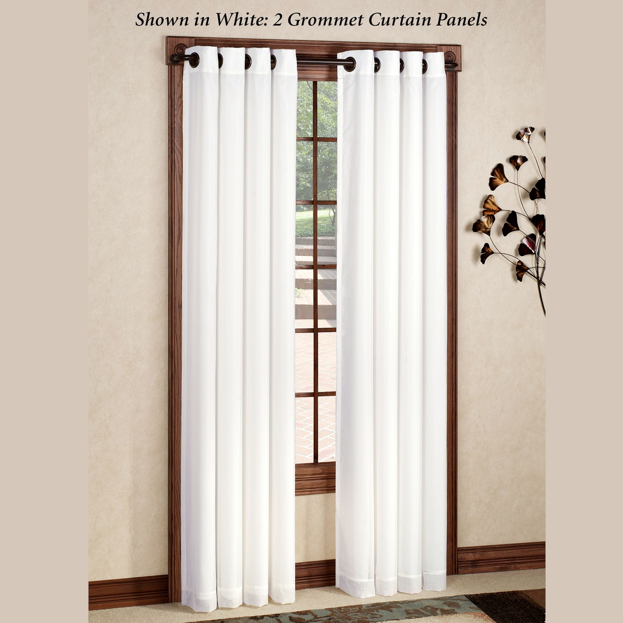 Rhapsody Grommet Curtain Panel Touch To Zoom