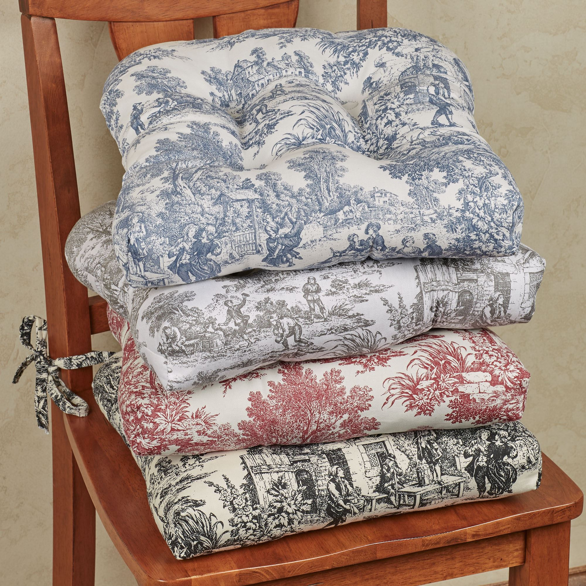 Victoria Park Toile Chair Cushion Set Of 2