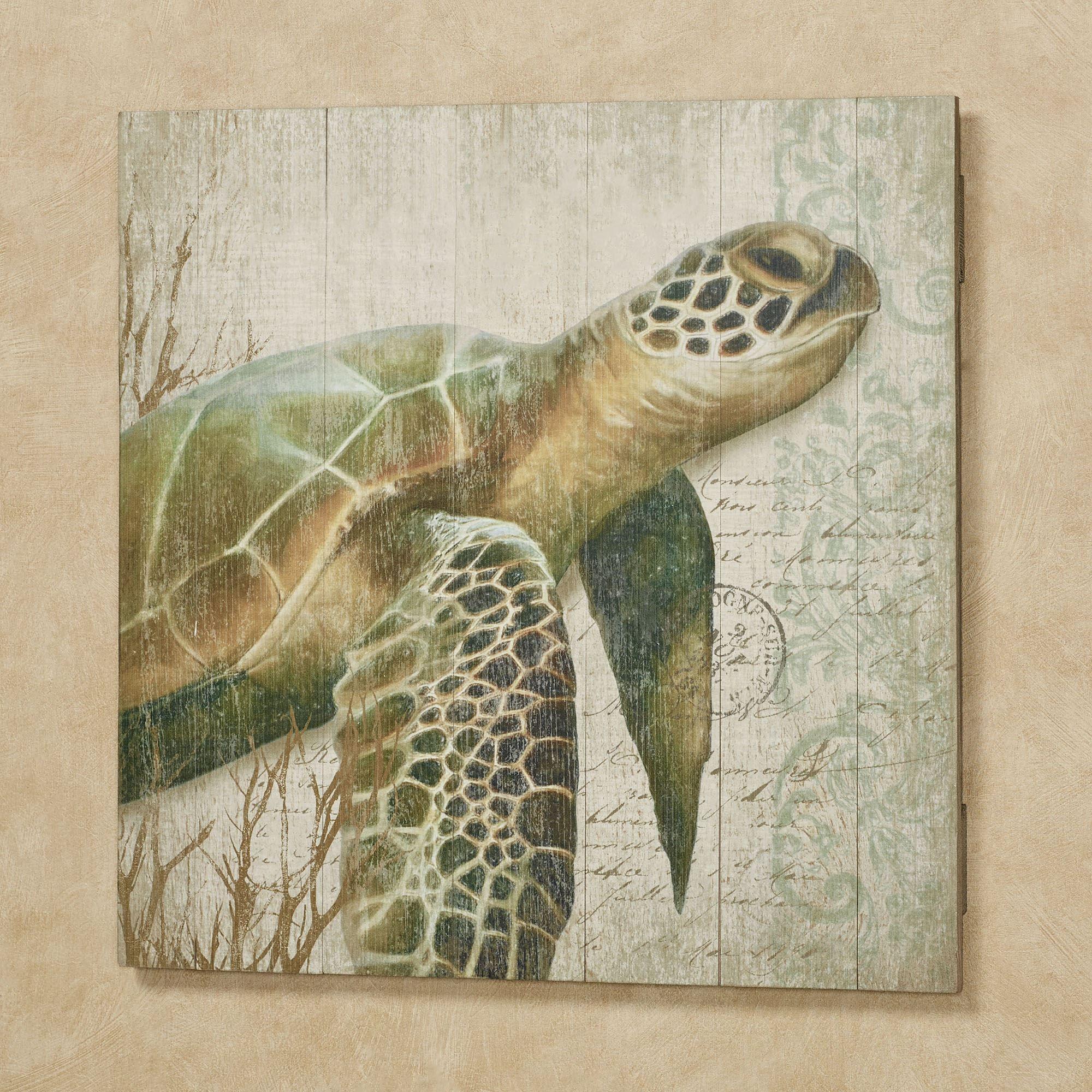 Sea Turtle I Wood Wall Art Sign