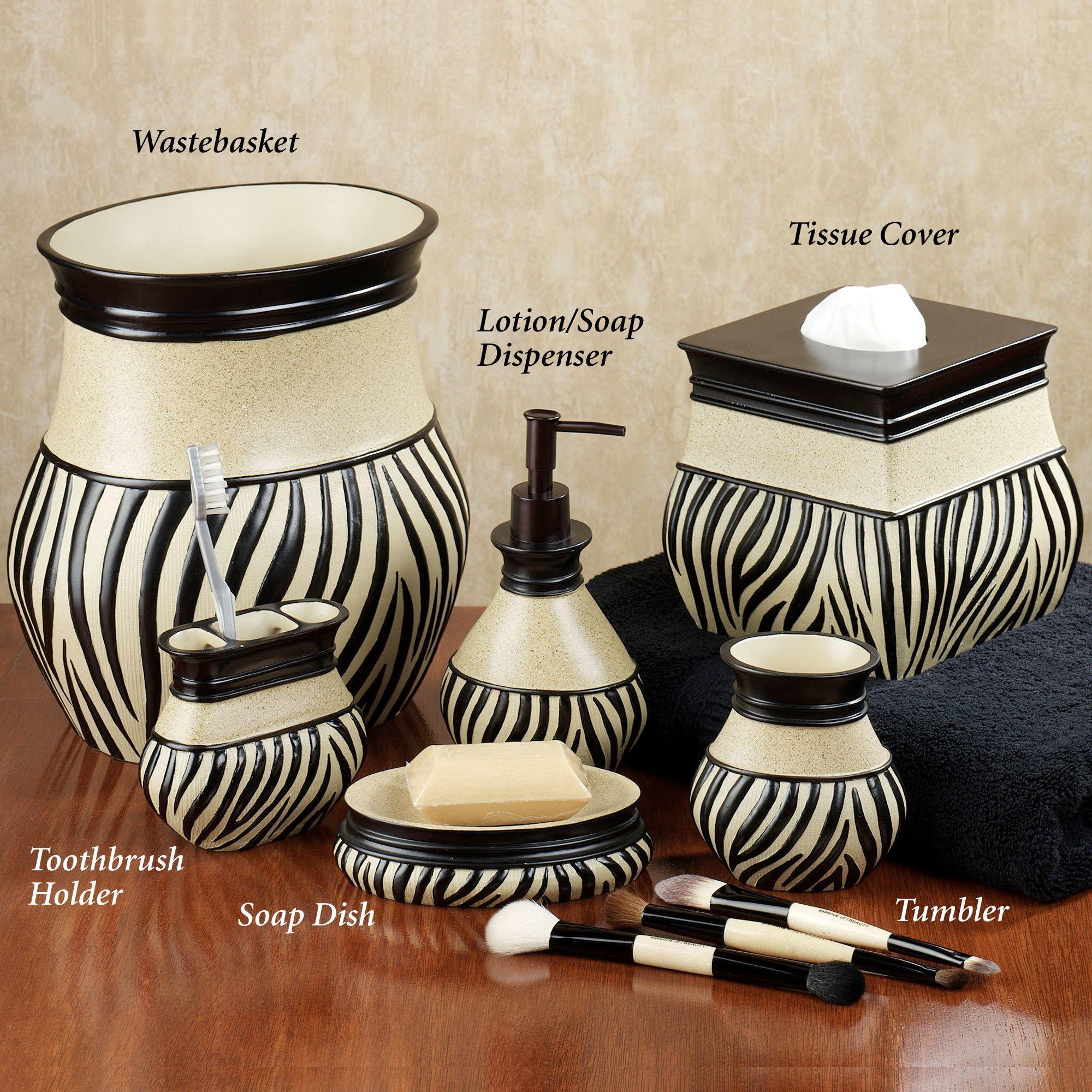 Superior Zuma Zebra Bath Accessories. Zuma Lotion Soap Dispenser. Click To Expand