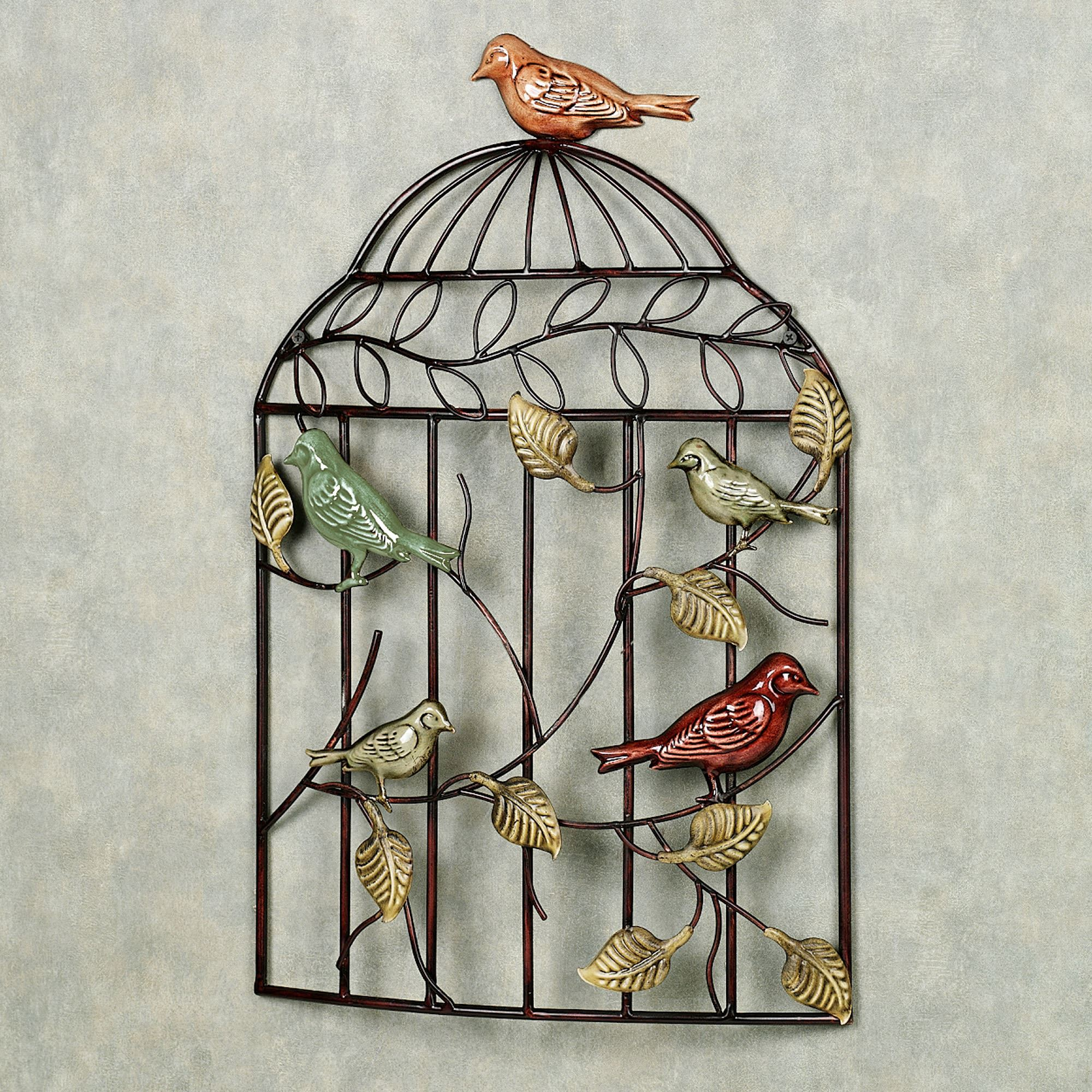 Bird Sanctuary Cage Wall ArtBrown. Click To Expand