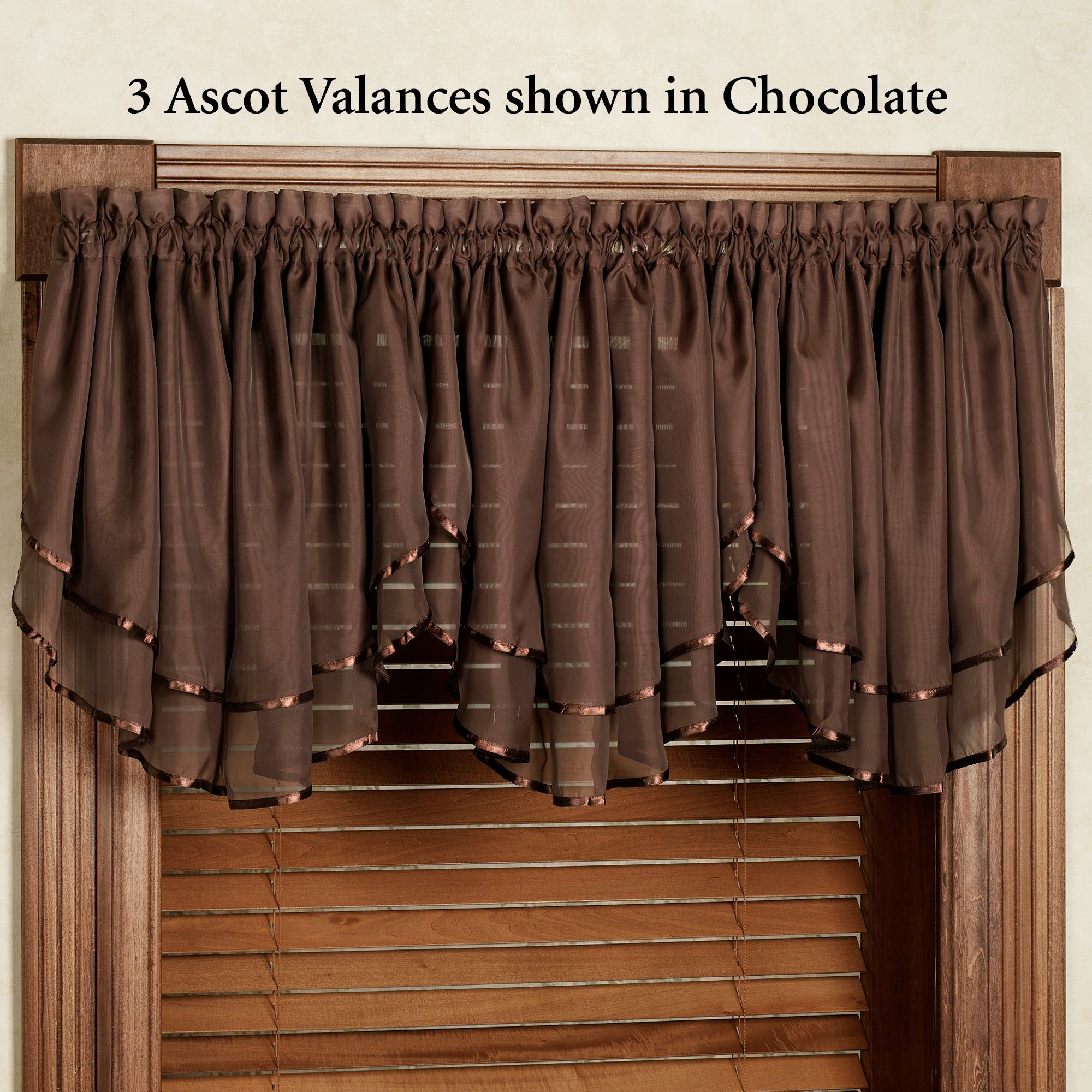 Elegance Sheer Layered Ascot Valance