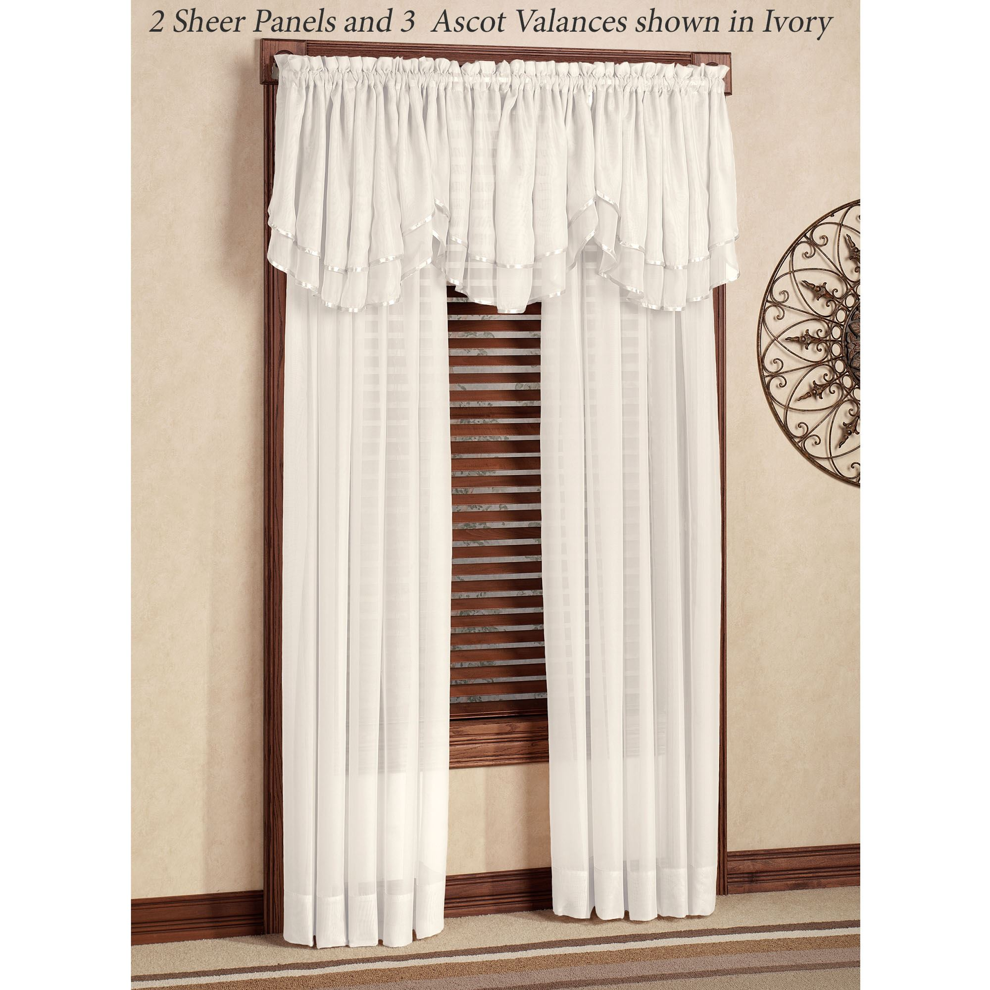 free garden with reilly ascot crystal valance window overstock queens product home five tassel fringe court today shipping