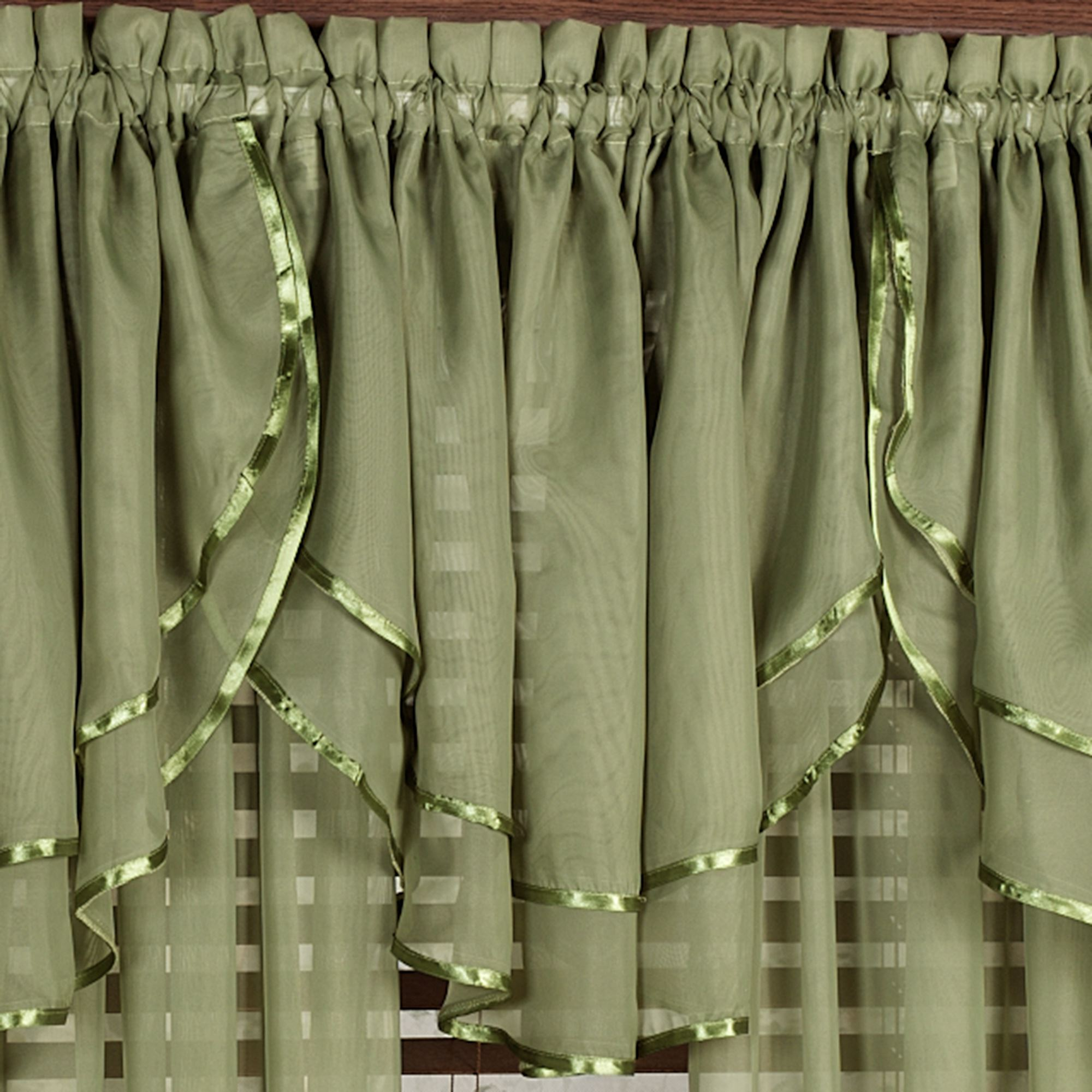 window valance solid swag valances soolgrswwiva green olive