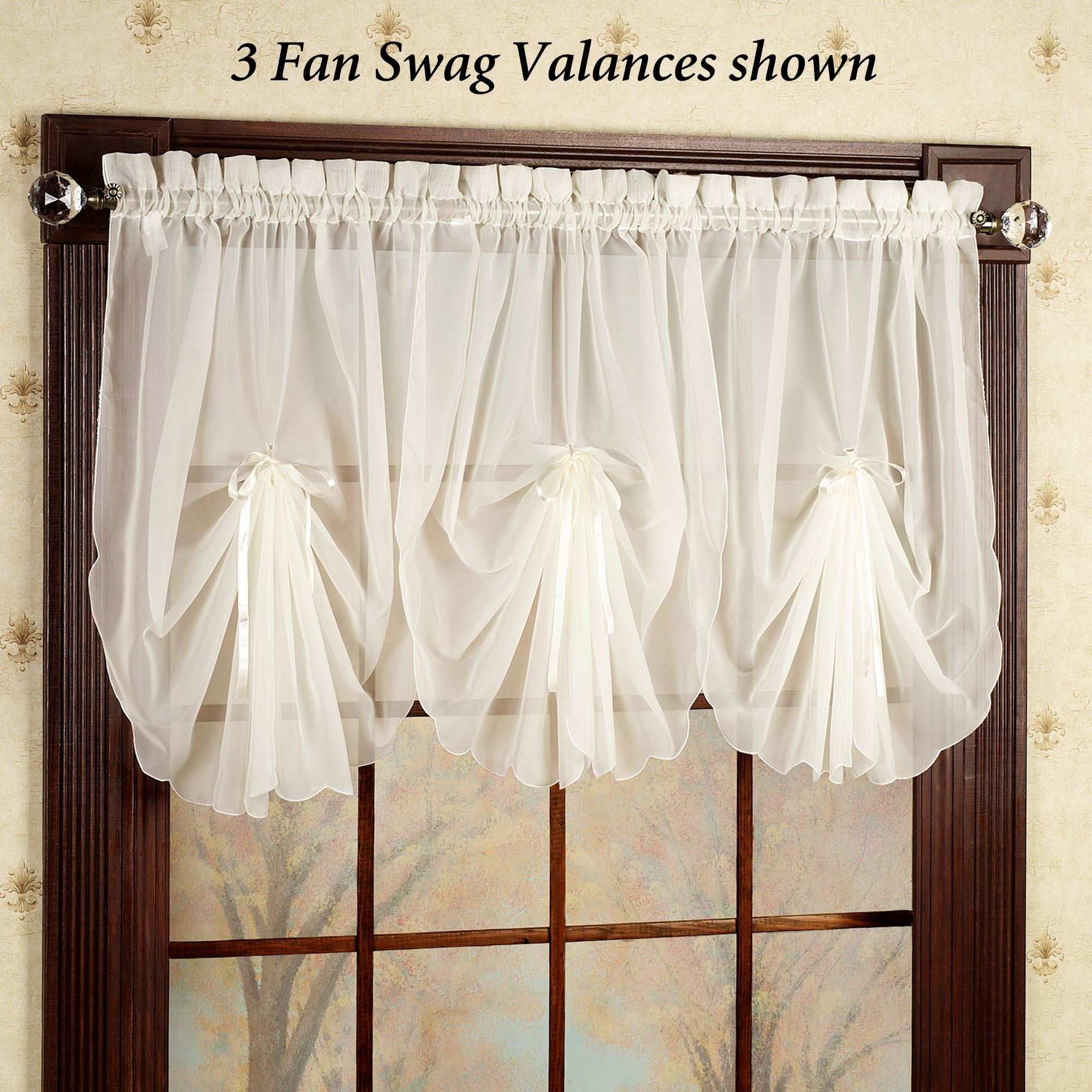 Touch To Zoom Emelia Sheer Fan Swag Valance