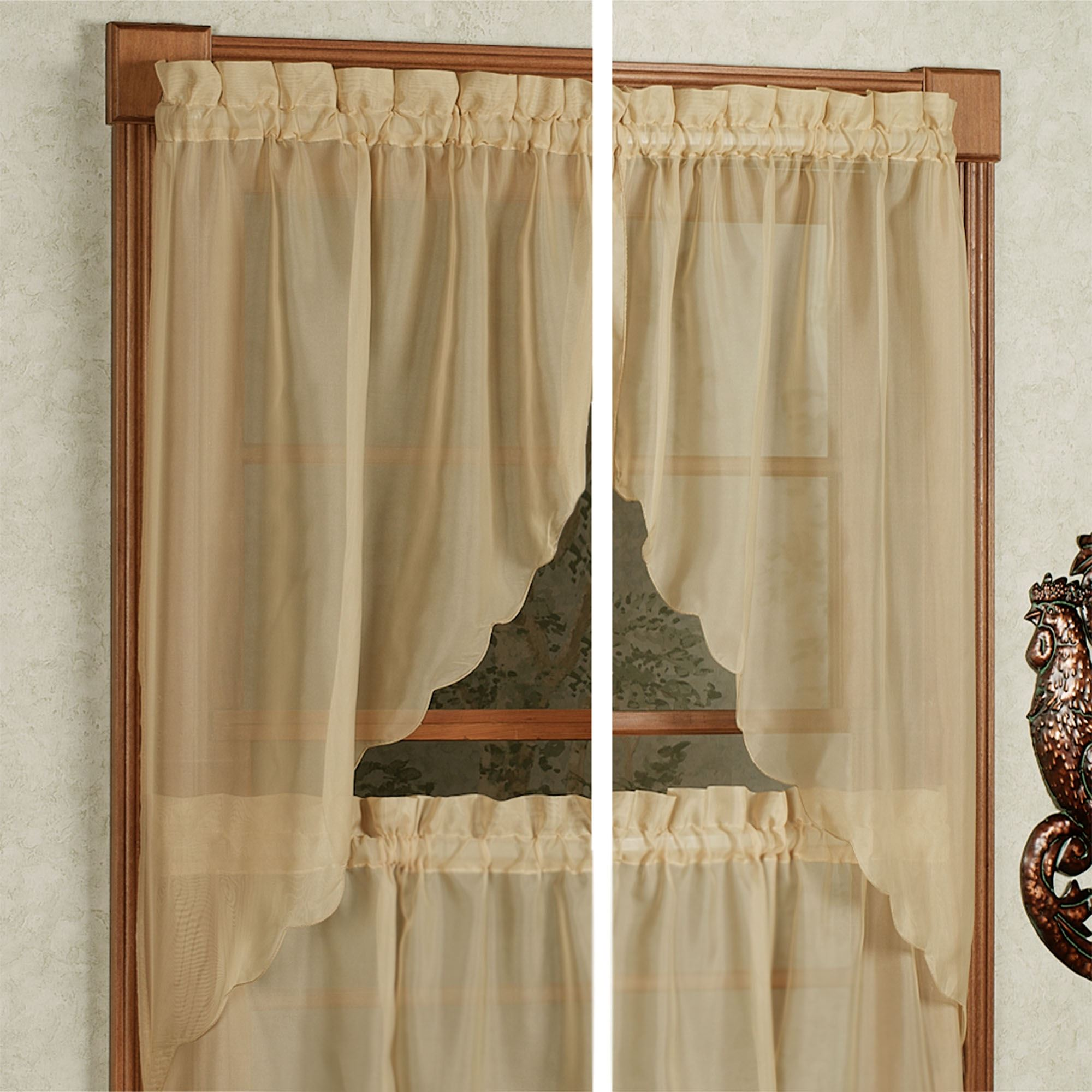 windows cabin valances window deer valance for treatments curtains the