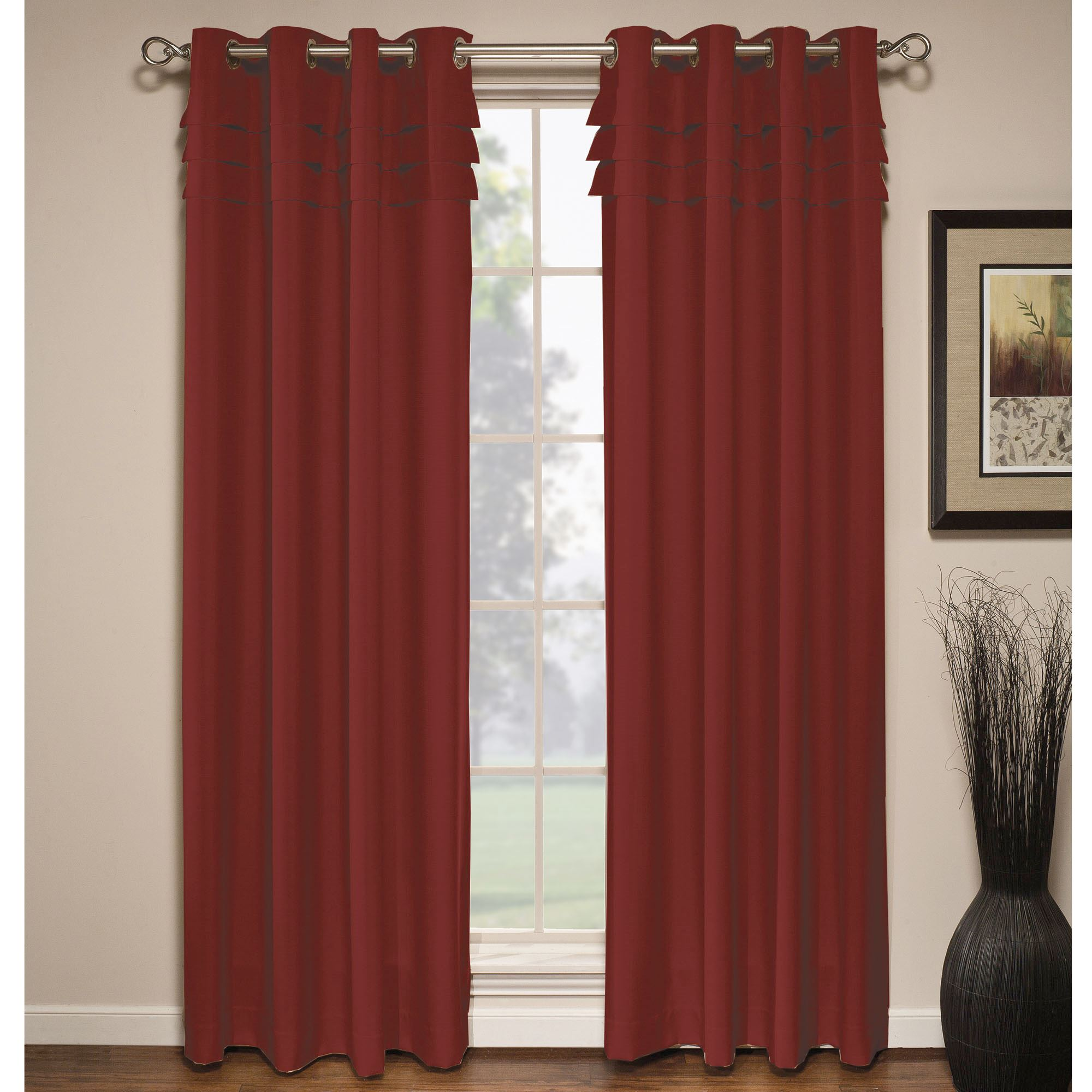eco friendly merge orange window p curtains curtain panels printed maple home leaf