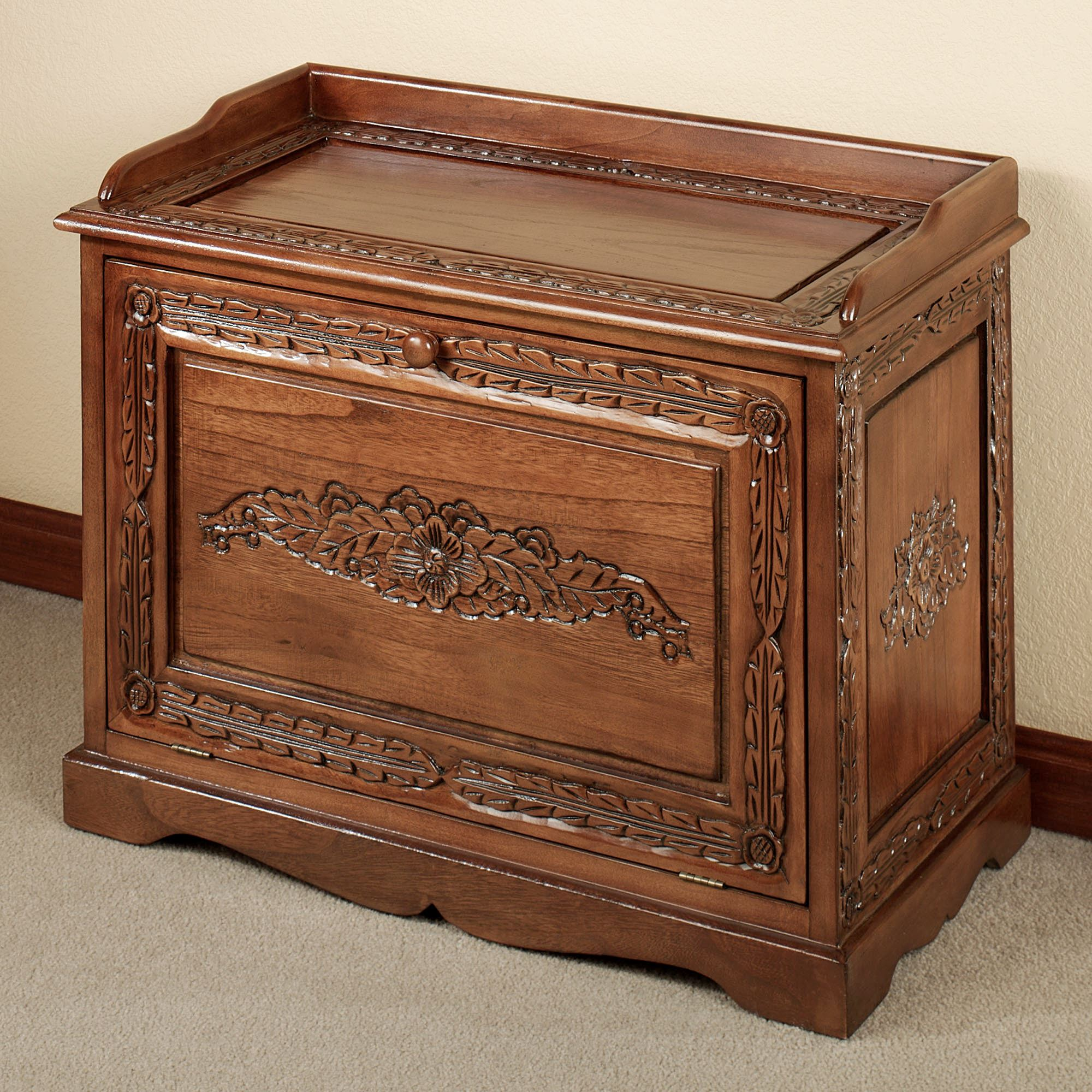 Victoriana Shoe Storage Bench Natural Cherry